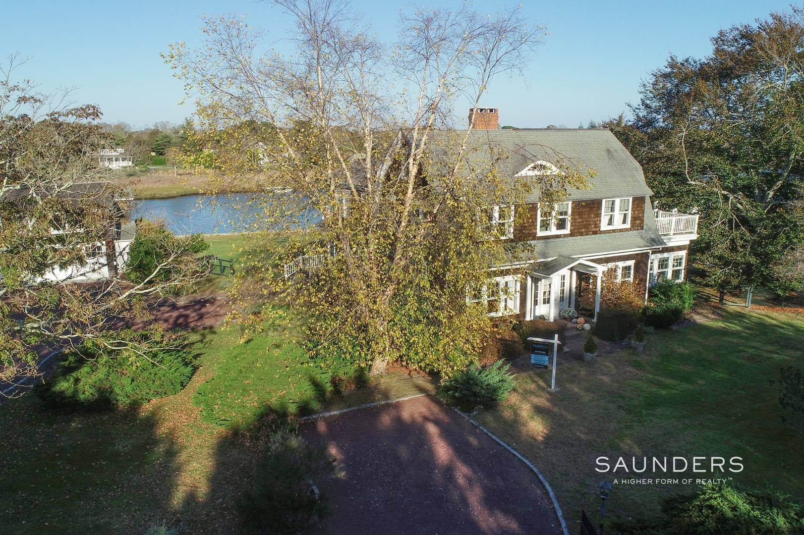4. Single Family Homes for Sale at South Of Highway Waterfront Traditional In Quogue 21 Old Point Road, Quogue Village, Southampton Town, NY 11959