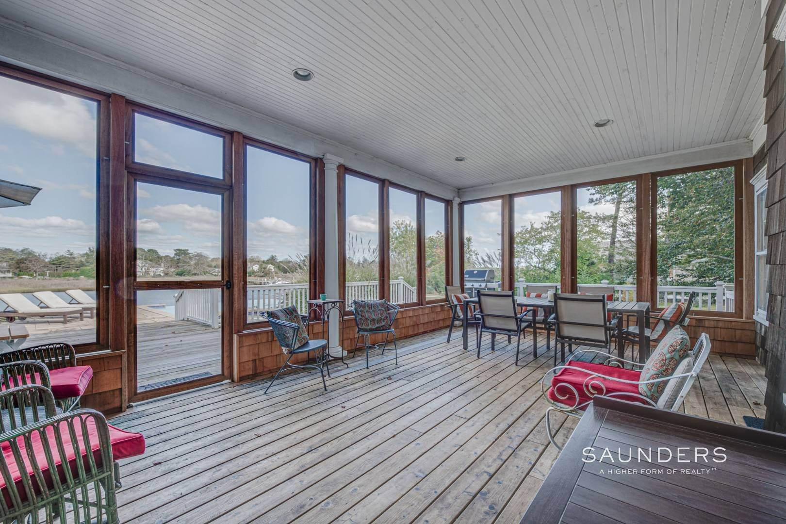 19. Single Family Homes for Sale at South Of Highway Waterfront Traditional In Quogue 21 Old Point Road, Quogue Village, Southampton Town, NY 11959