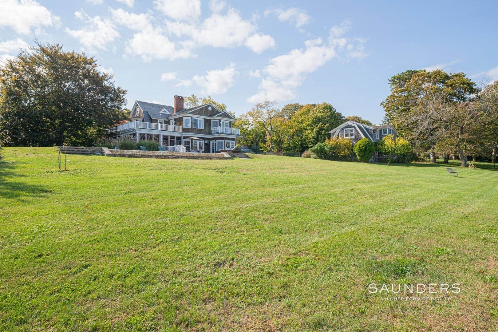 7. Single Family Homes for Sale at South Of Highway Waterfront Traditional In Quogue 21 Old Point Road, Quogue Village, Southampton Town, NY 11959
