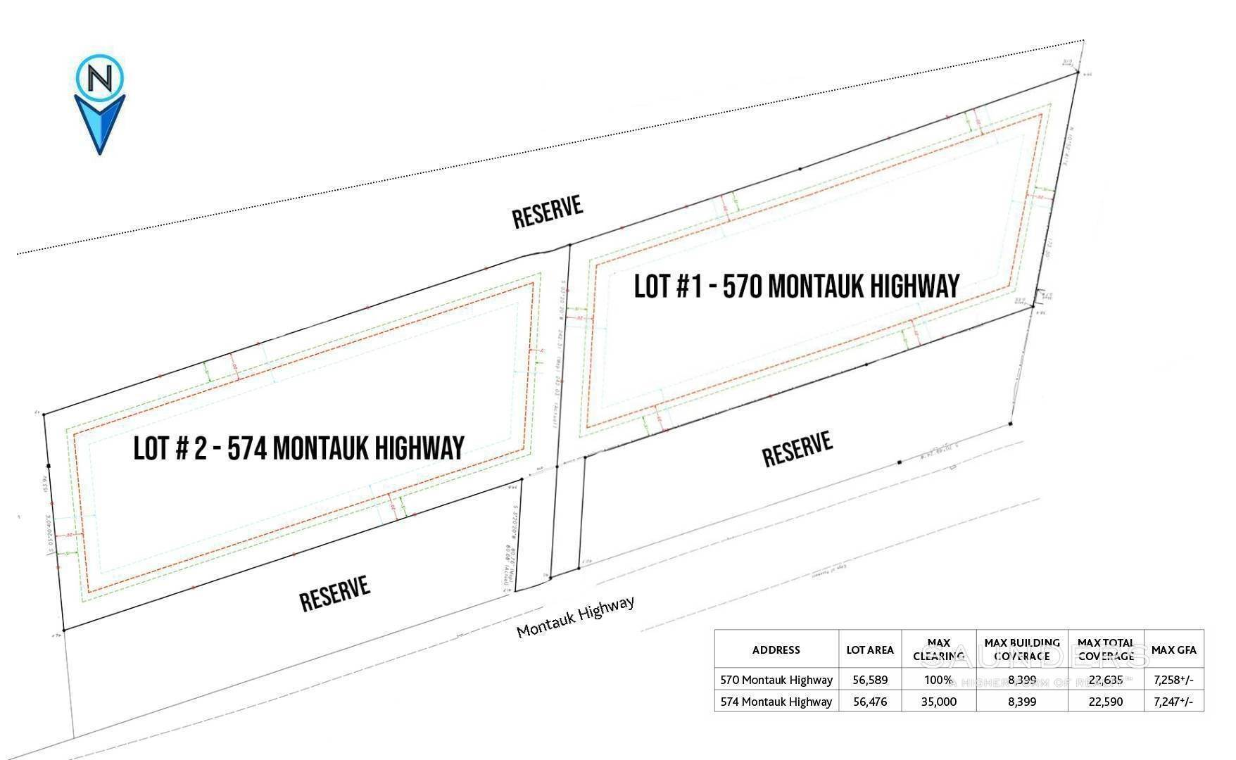 2. Land for Sale at Build South Of The Highway 574 Montauk Highway, Amagansett, East Hampton Town, NY 11937