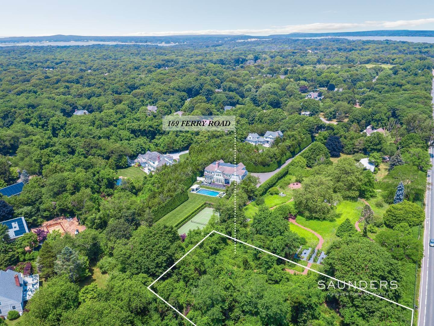 Land for Sale at Sag Harbor Building Lot Close To Village 169 Ferry Road, Sag Harbor, Southampton Town, NY 11963