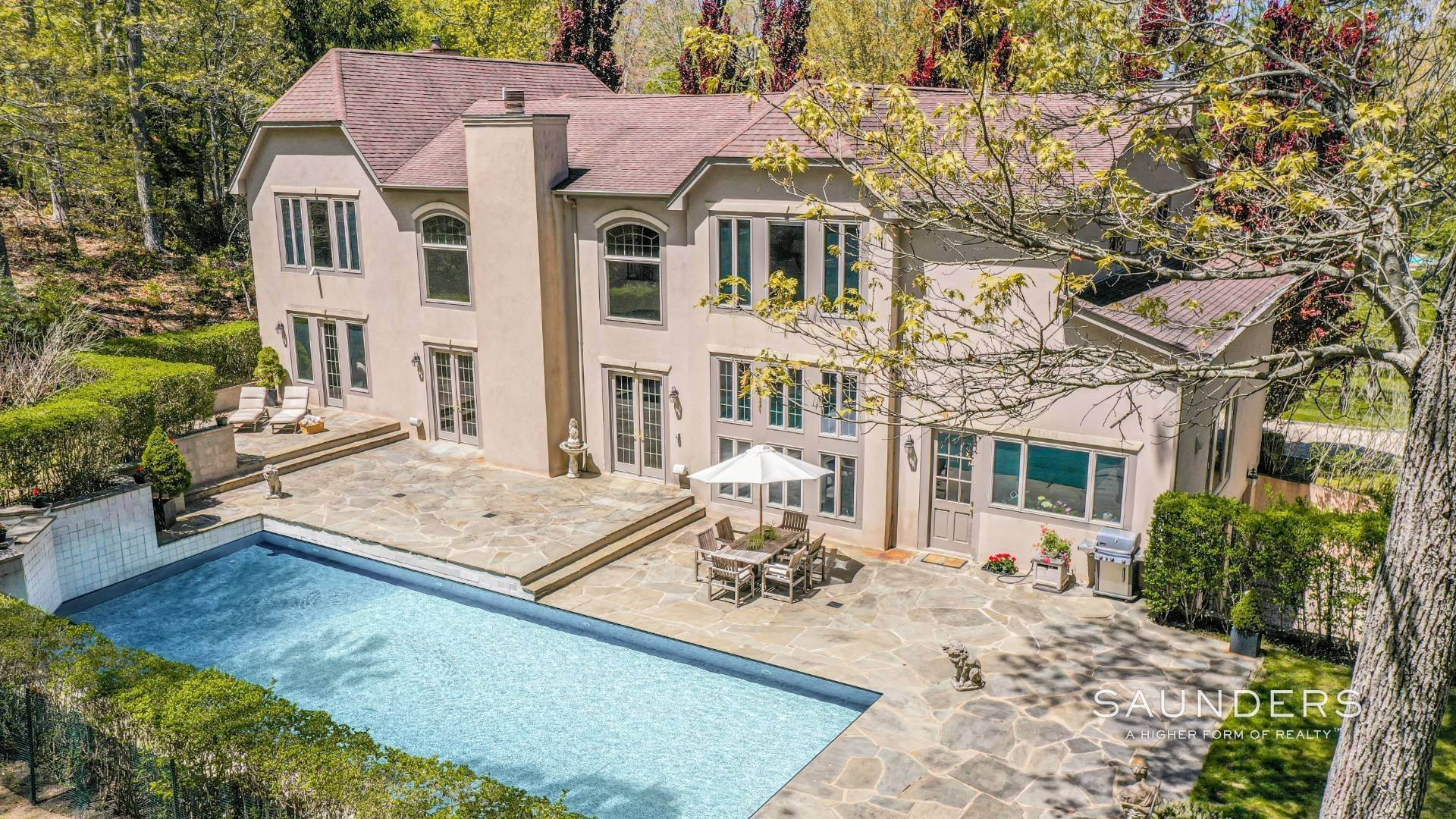 Single Family Homes for Sale at European Elegance In Sag Harbor 28 Deerwood Path, Sag Harbor, Southampton Town, NY 11963