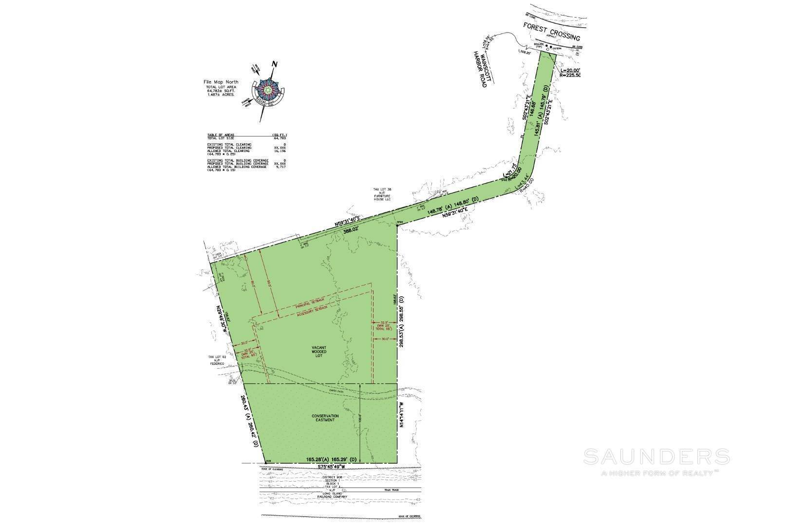 Land for Sale at Sagaponack Vacant Land On Flag Lot 17 Forest Crossing, Sagaponack, Southampton Town, NY 11962