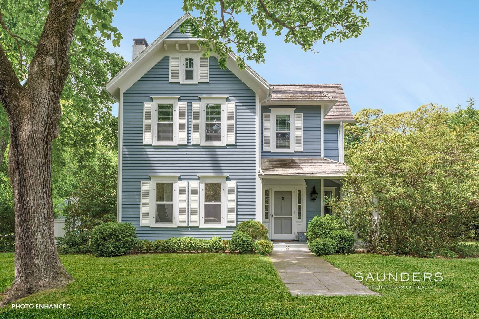 Single Family Homes for Sale at Historic Sag Harbor Charm On Rare Over Half Acre 27 Columbia Street, Sag Harbor, Southampton Town, NY 11963