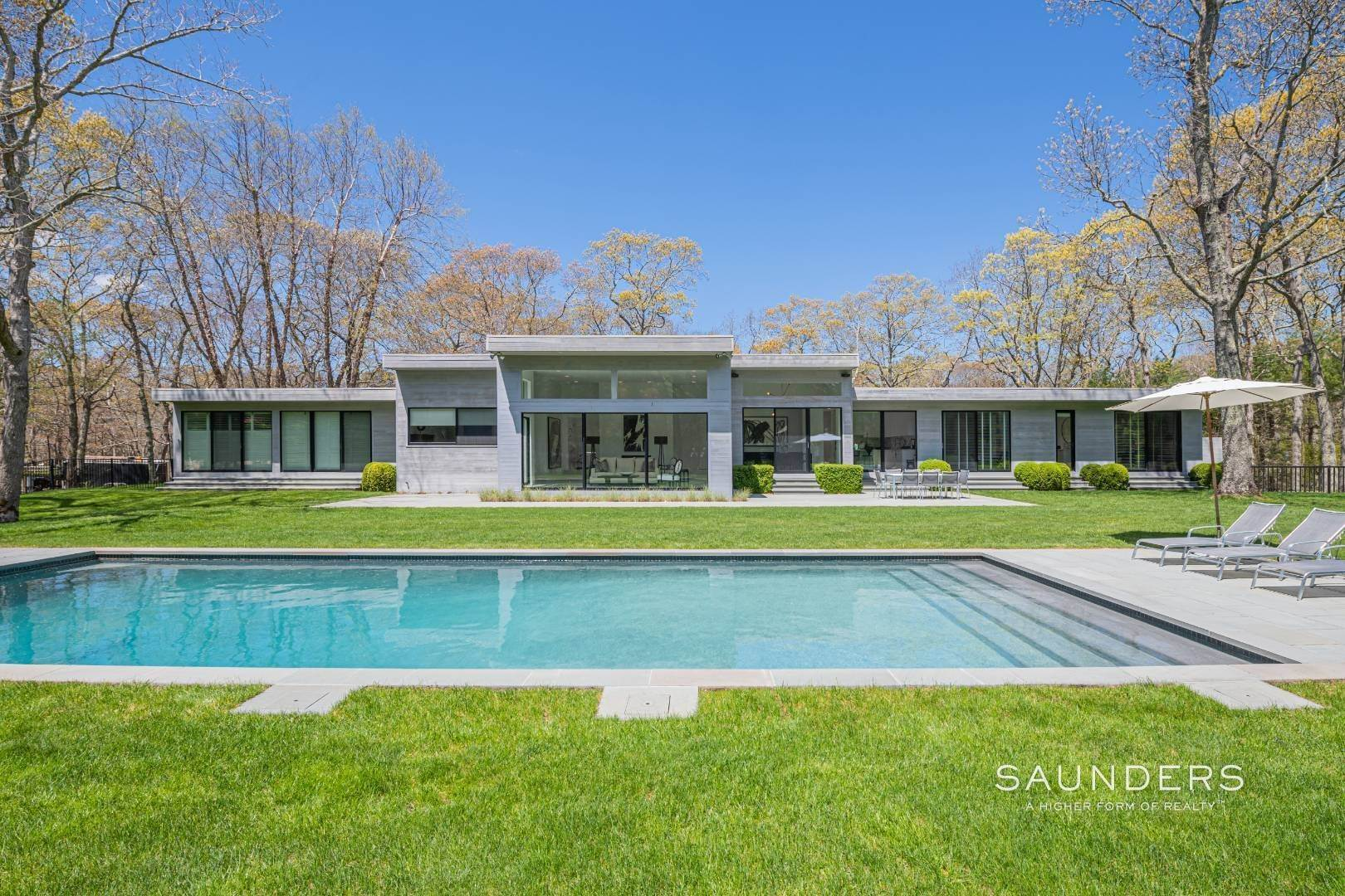 Single Family Homes for Sale at Extraordinary Modern In East Hampton South 311 Georgica Road, East Hampton, East Hampton Town, NY 11937