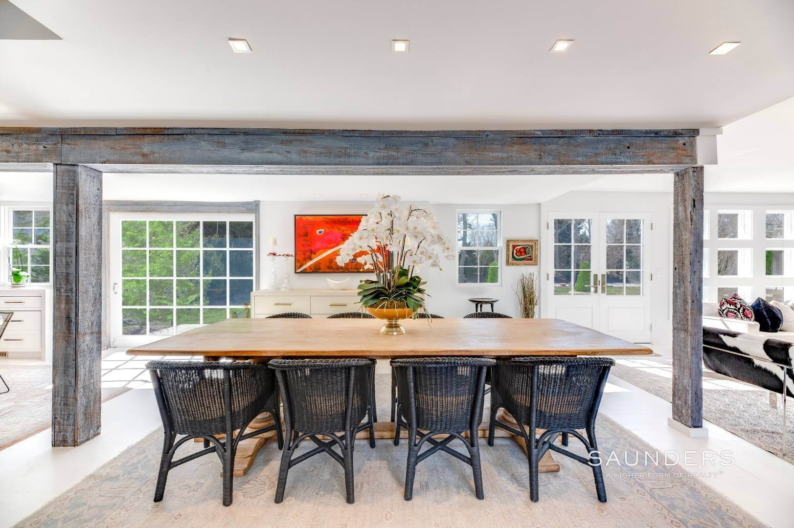 9. Single Family Homes for Sale at Renovated Boutique Barn 407 North Sea Mecox Road, Southampton, Southampton Town, NY 11968