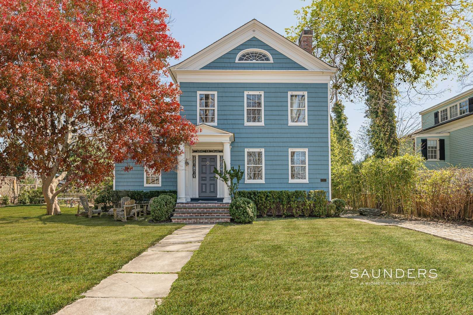 Single Family Homes for Sale at 1+ Acre Historic District Offering 10 High Street, Sag Harbor, East Hampton Town, NY 11963