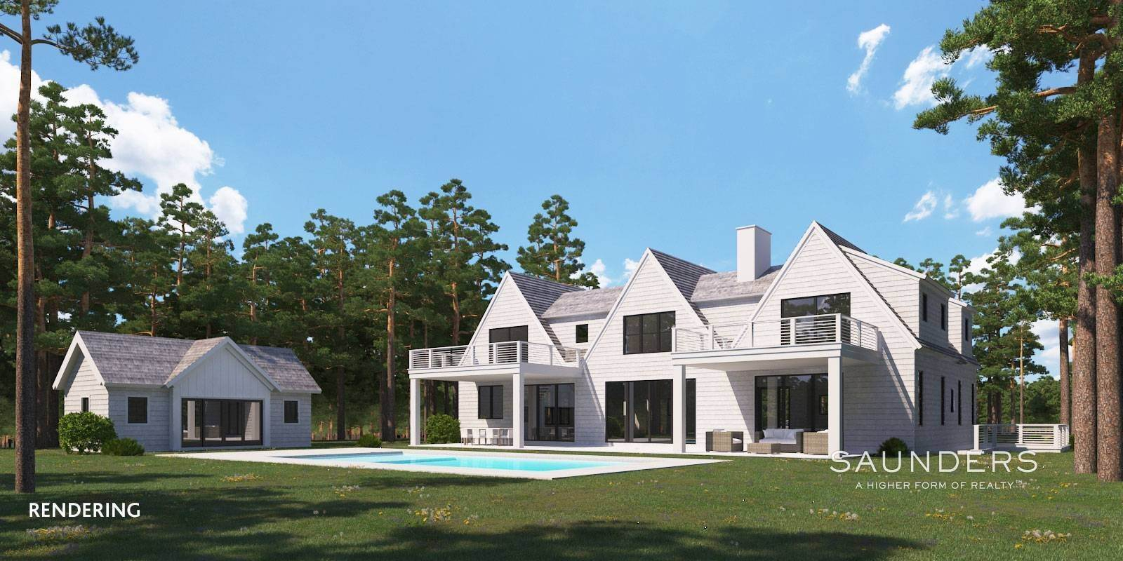 Single Family Homes for Sale at Sagaponack New Construction With Pool, Spa And Cabana 482 Wainscott Harbor Road, Sagaponack, Southampton Town, NY 11962
