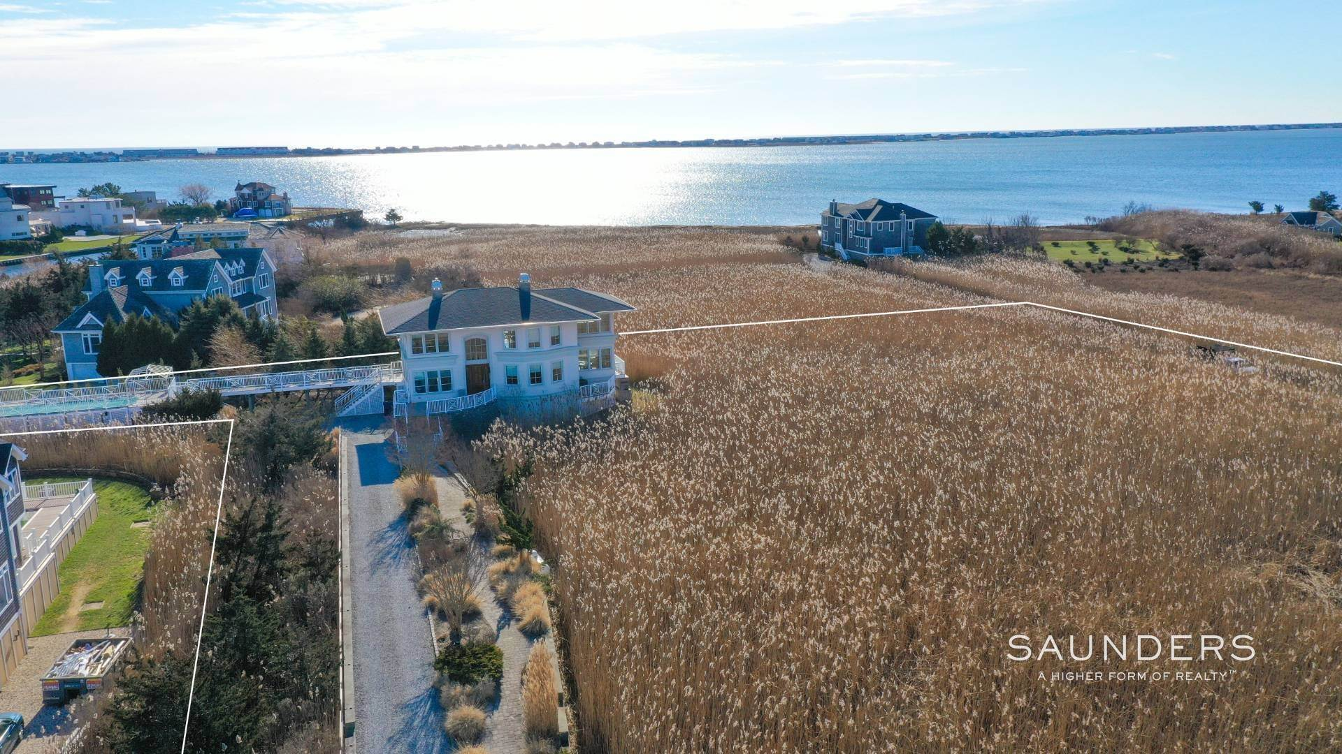 3. Single Family Homes for Sale at Celebrate Nature's Beauty: Sunsets, Water Views, Pool & Dock 5 Bay Meadow Lane, Westhampton, Southampton Town, NY 11977