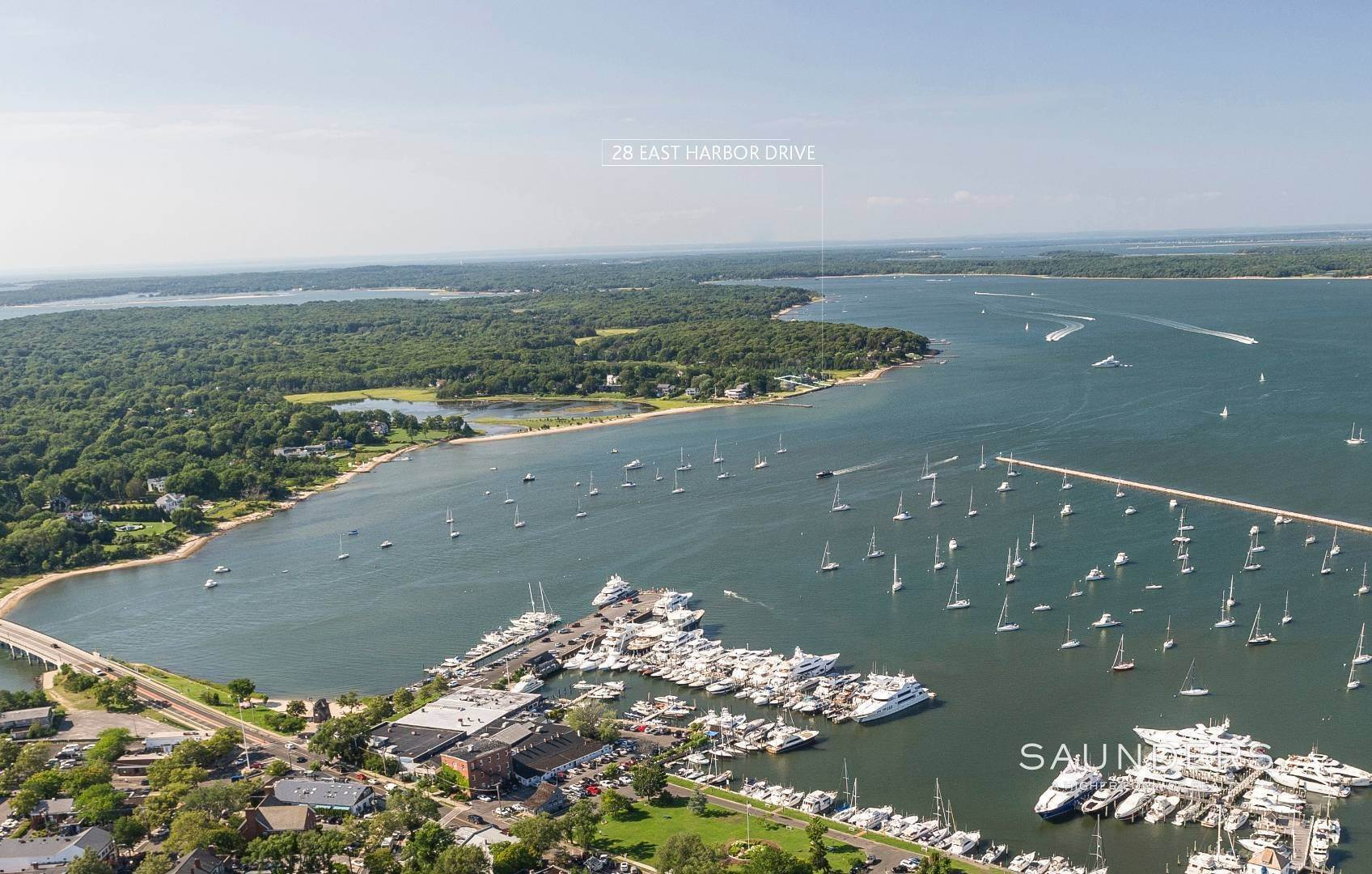 Single Family Homes for Sale at Waterfront Architectural Dream 28 East Harbor Drive, Sag Harbor, Southampton Town, NY 11963