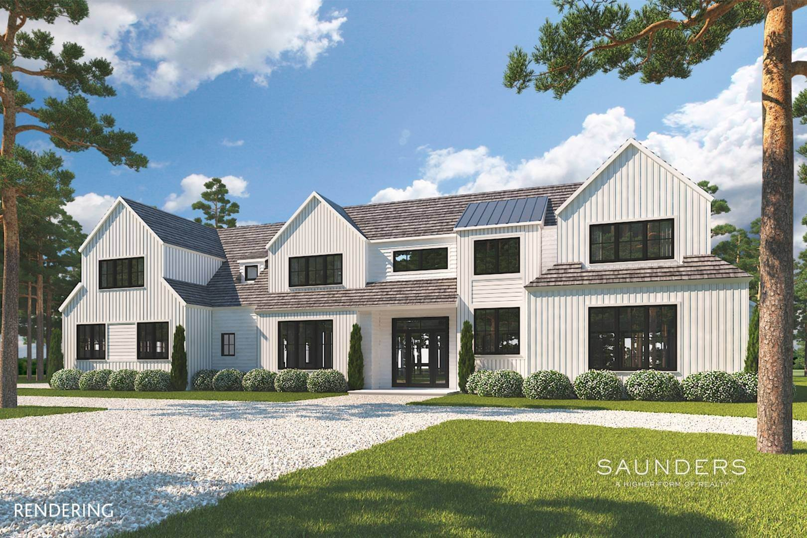 Single Family Homes for Sale at Sagaponack New Construction With Pool, Spa And Tennis 363 Wainscott Harbor Road, Sagaponack, Southampton Town, NY 11968