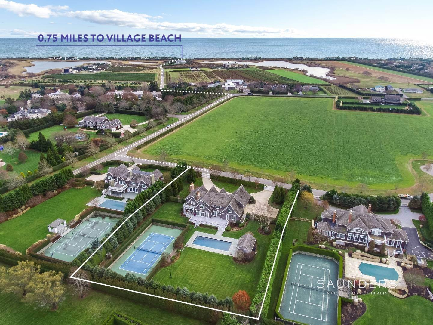 2. Single Family Homes for Sale at Southampton Village Elegance And Grace 3 Halsey Path, Southampton, Southampton Town, NY 11968