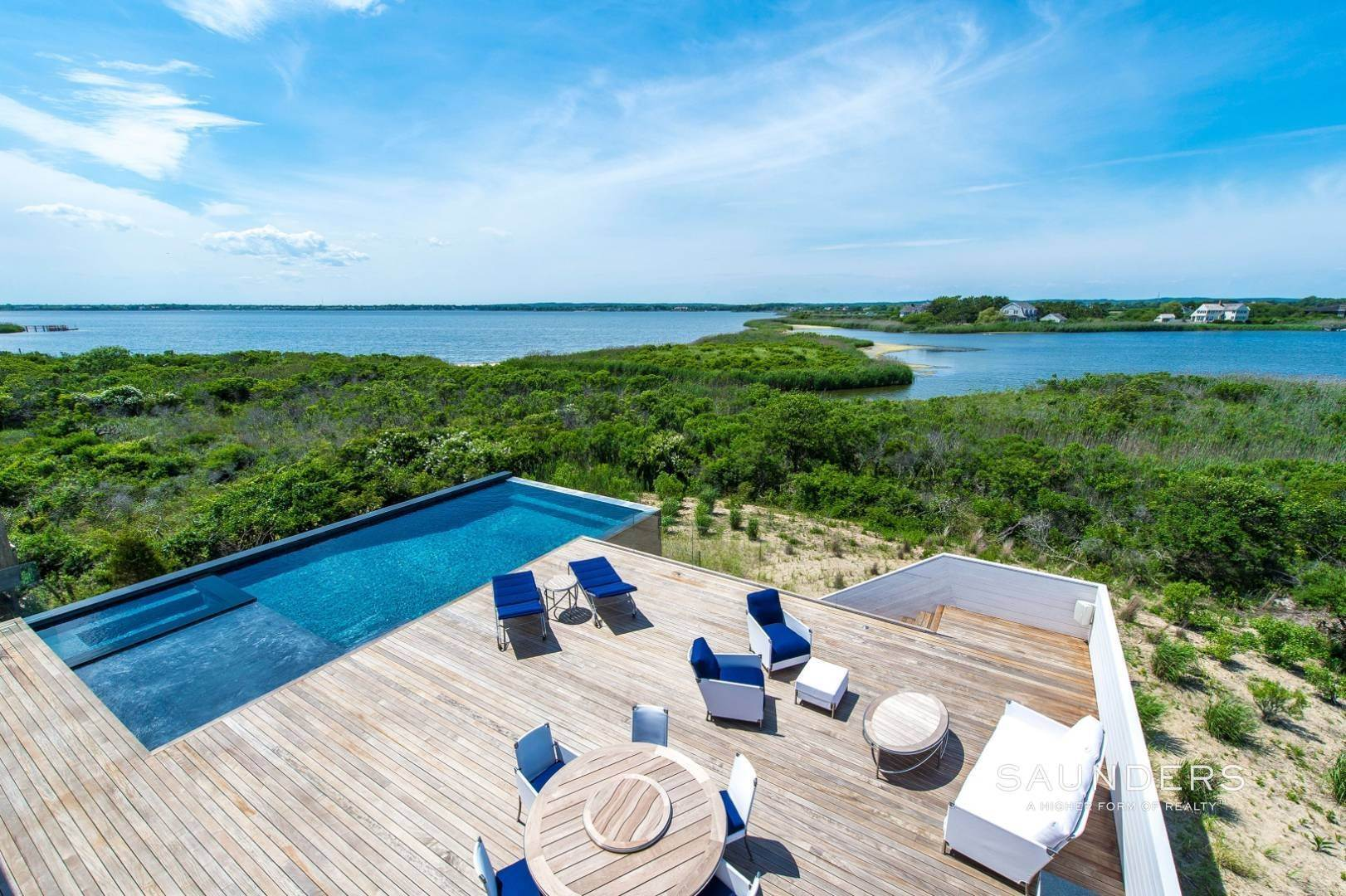 Single Family Homes for Sale at Modern Bridgehampton Bayfront 40 Dune Road, Bridgehampton, Southampton Town, NY 11932
