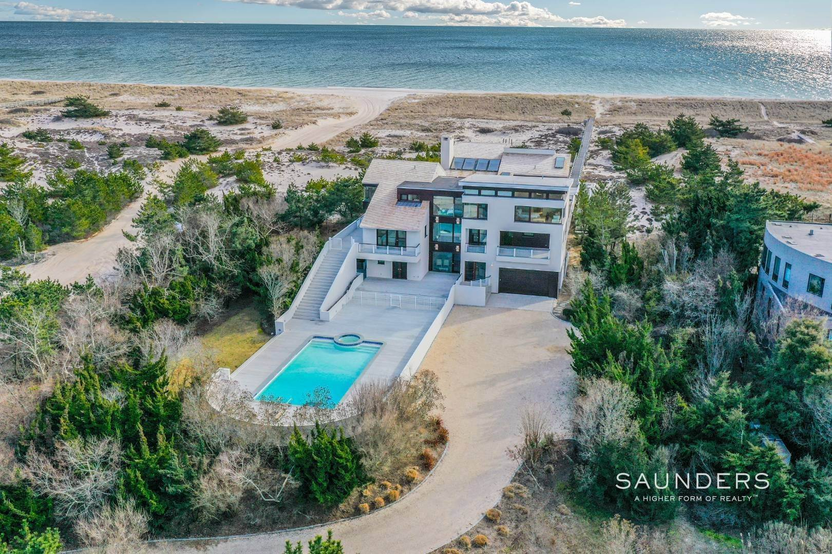 Single Family Homes for Sale at Meadow Lane Oceanfront On Three Levels 1950 Meadow Lane, Southampton, Southampton Town, NY 11968