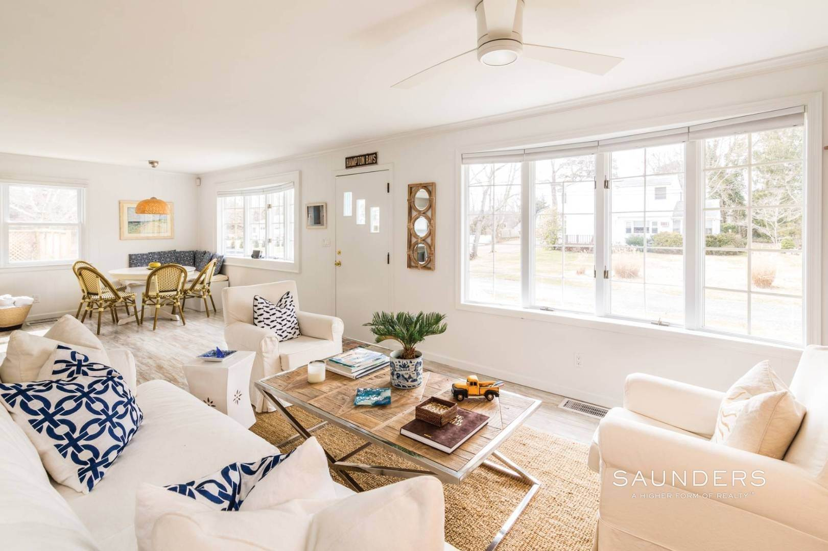 4. Single Family Homes for Sale at Chic Designer Cottage, Heated Pool, Near Bay, East Of Canal 9 Elizabeth Avenue, Hampton Bays, Southampton Town, NY 11946