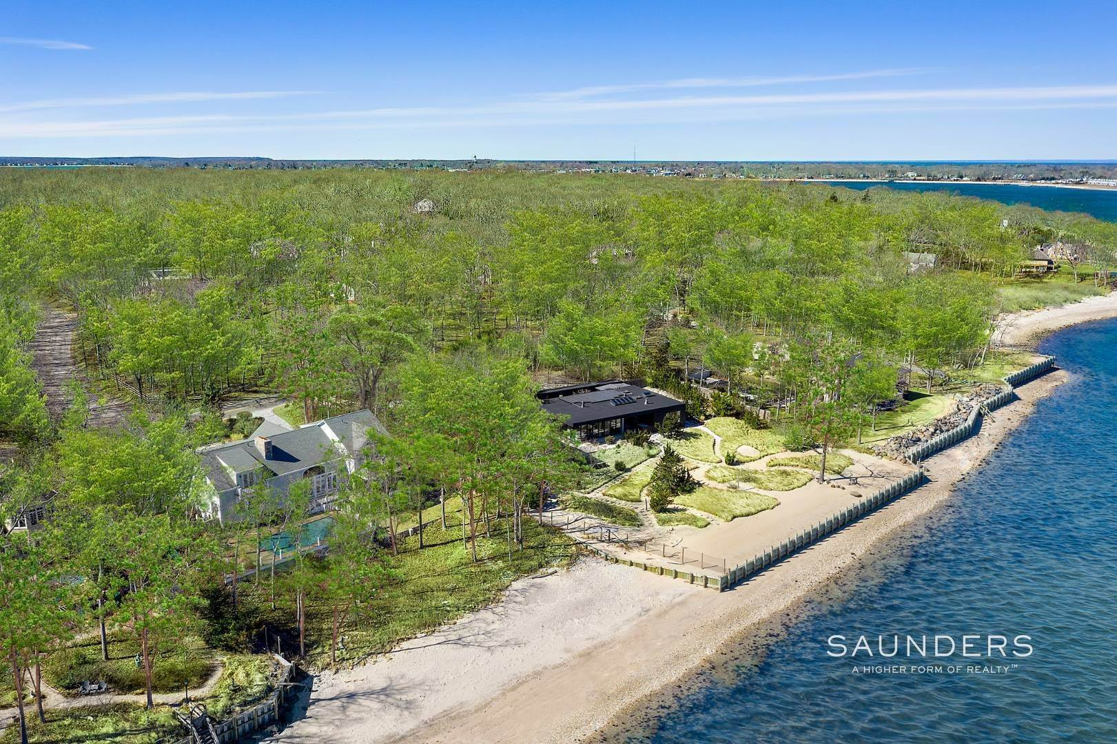 Single Family Homes for Sale at Shelter Island Gardiners Bay Beach House With Pool 72 Gardiners Bay Drive, Shelter Island Heights, Shelter Island, NY 11964