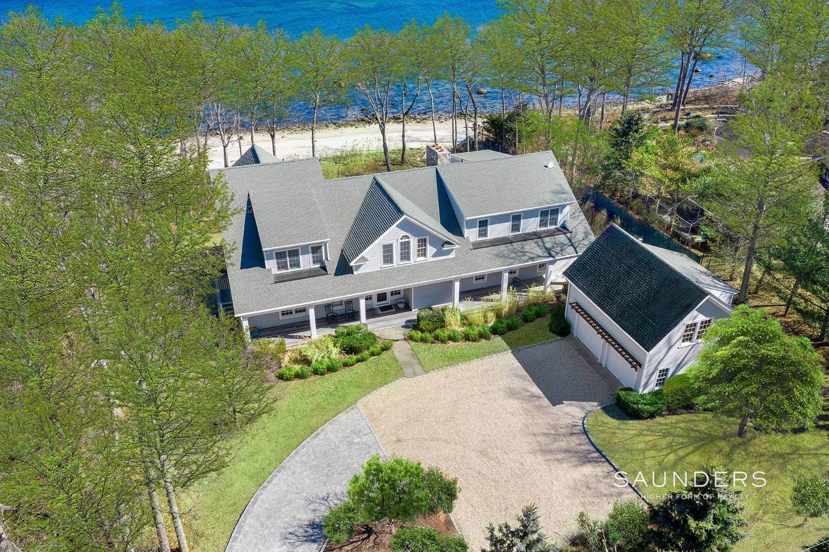 3. Single Family Homes for Sale at Shelter Island Gardiners Bay Beach House With Pool 72 Gardiners Bay Drive, Shelter Island Heights, Shelter Island, NY 11964