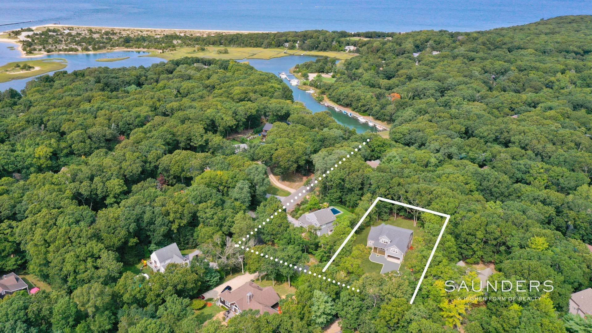 Single Family Homes for Sale at New Construction With Deeded Boat Slip 29 Salt Marsh Path, East Hampton, East Hampton Town, NY 11937