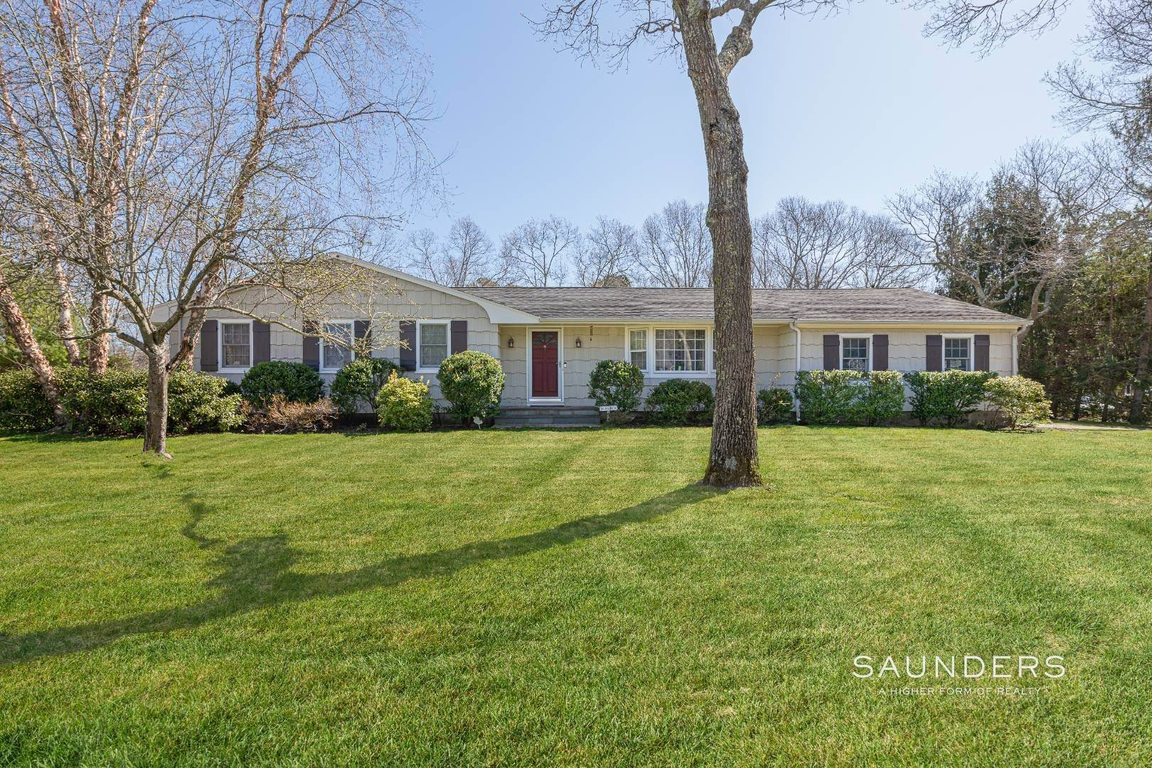 Single Family Homes for Sale at Desirable Tiana Shores Ranch With Pool In East Quogue 15 Deerfeed Path, East Quogue, Southampton Town, NY 11942