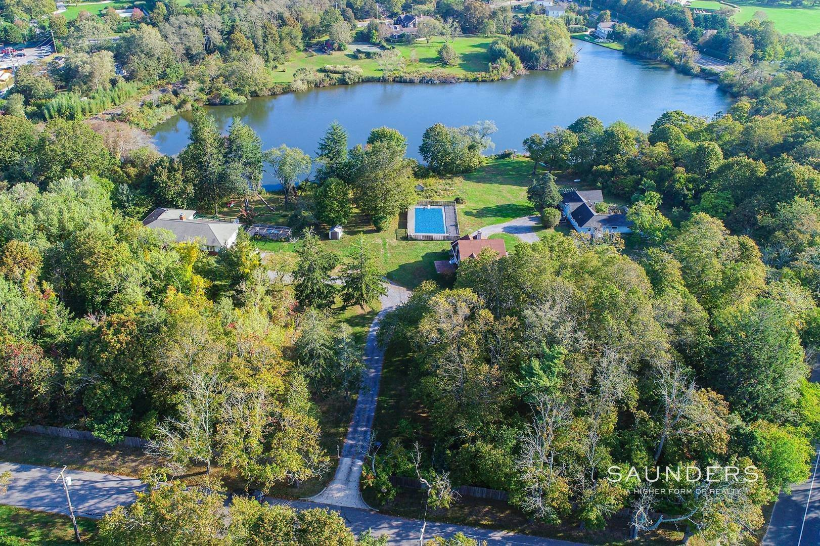 3. Single Family Homes for Sale at Historic Waterfront Water Mill Compound 15 & 17 Old Country Road, Water Mill, Southampton Town, NY 11976