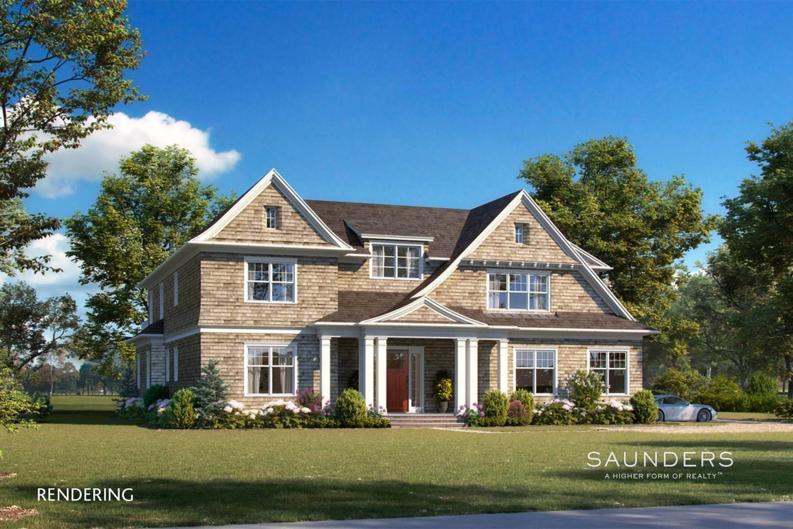 Single Family Homes for Sale at Elegant New Construction With Vineyard Views 60 Winding Way, Water Mill, Southampton Town, NY 11976