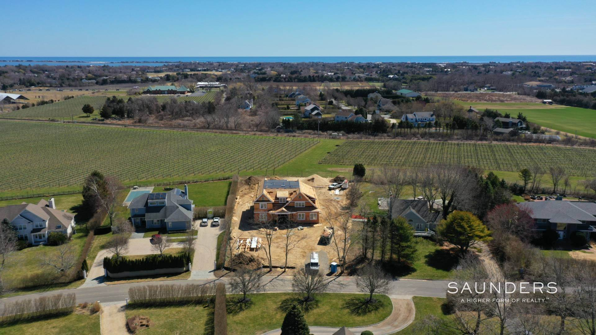 2. Single Family Homes for Sale at Elegant New Construction With Vineyard Views 60 Winding Way, Water Mill, Southampton Town, NY 11976