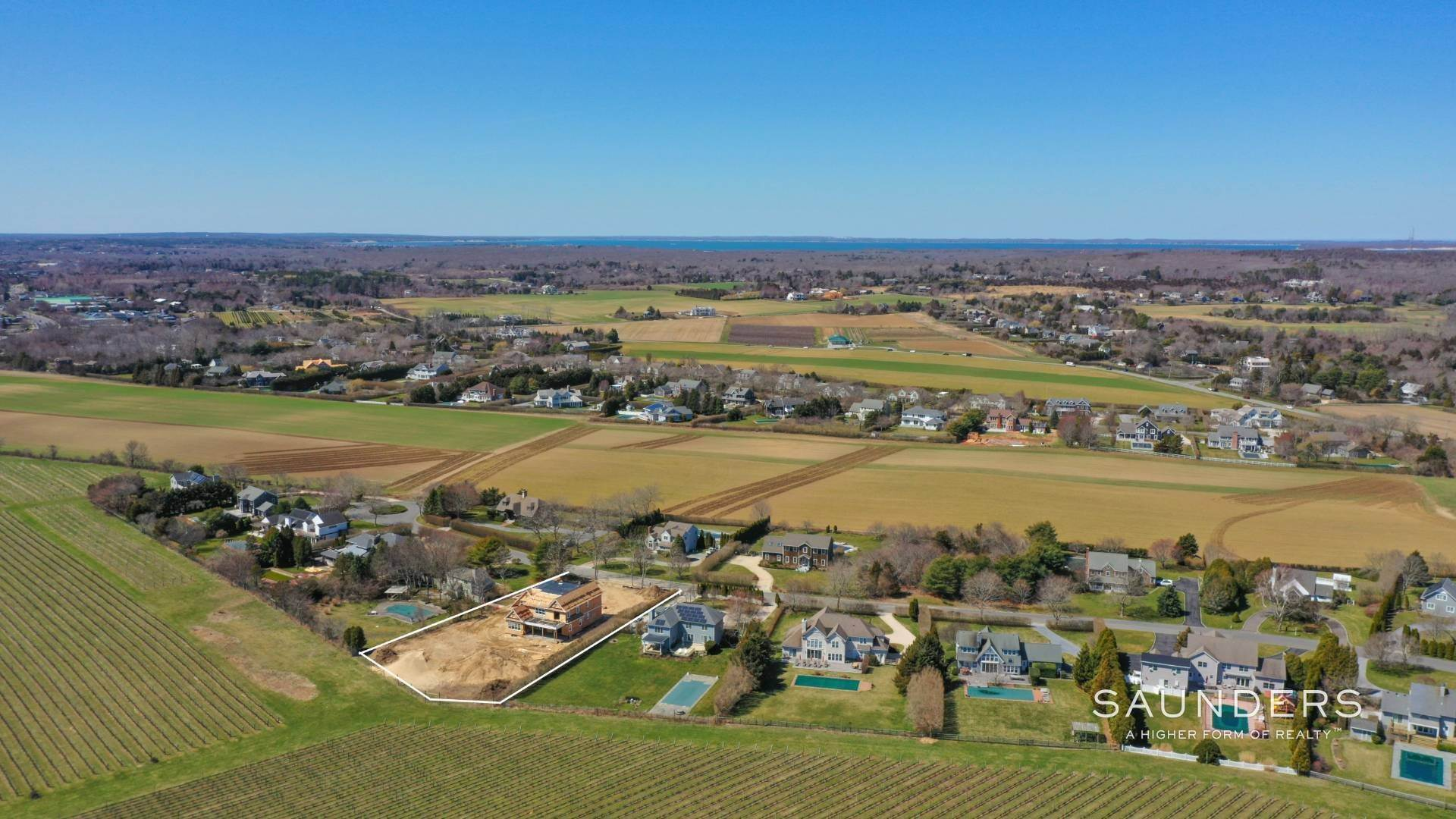 3. Single Family Homes for Sale at Elegant New Construction With Vineyard Views 60 Winding Way, Water Mill, Southampton Town, NY 11976