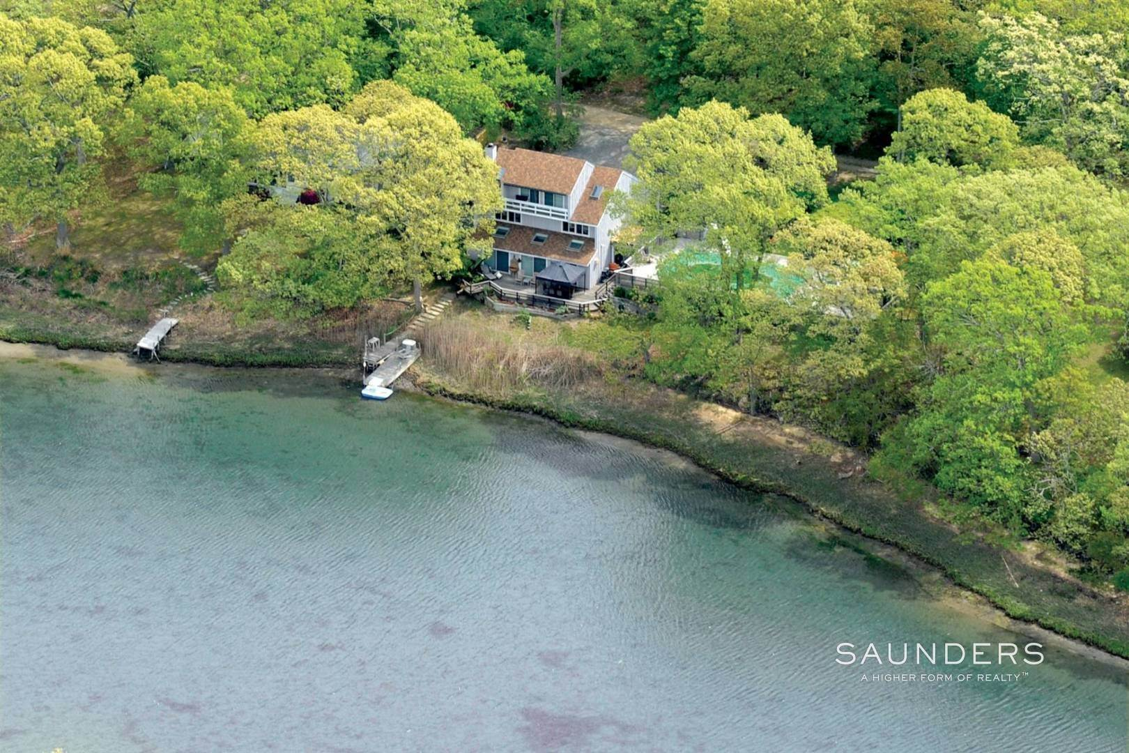 35. Single Family Homes at Modernist Waterfront With Pool Near Shelter Island Heights Shelter Island Heights, Shelter Island, NY 11965