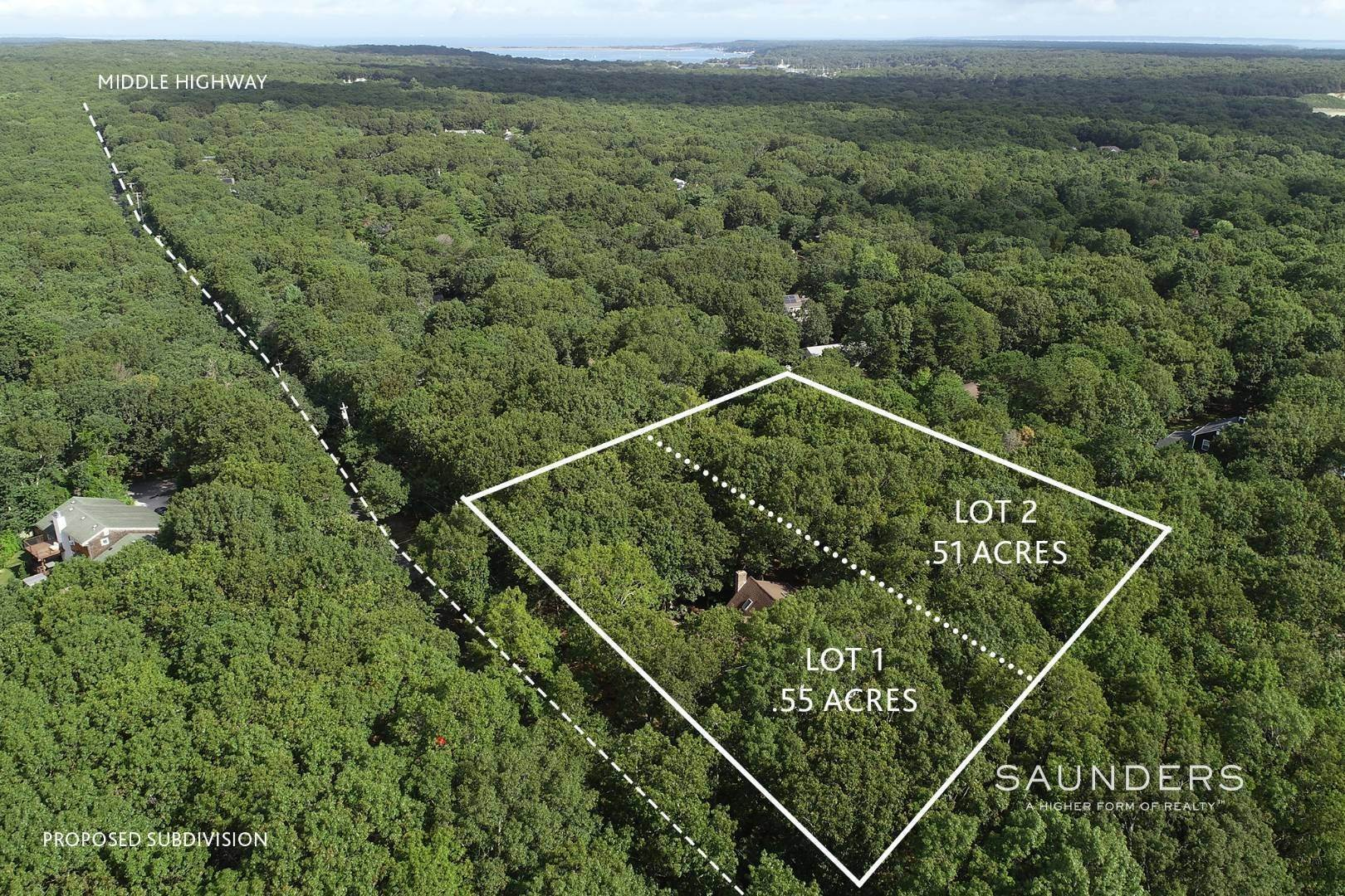 Single Family Homes for Sale at Village Fringe Acre With Subdivision Potential 79 Middle Highway, East Hampton, East Hampton Town, NY 11937