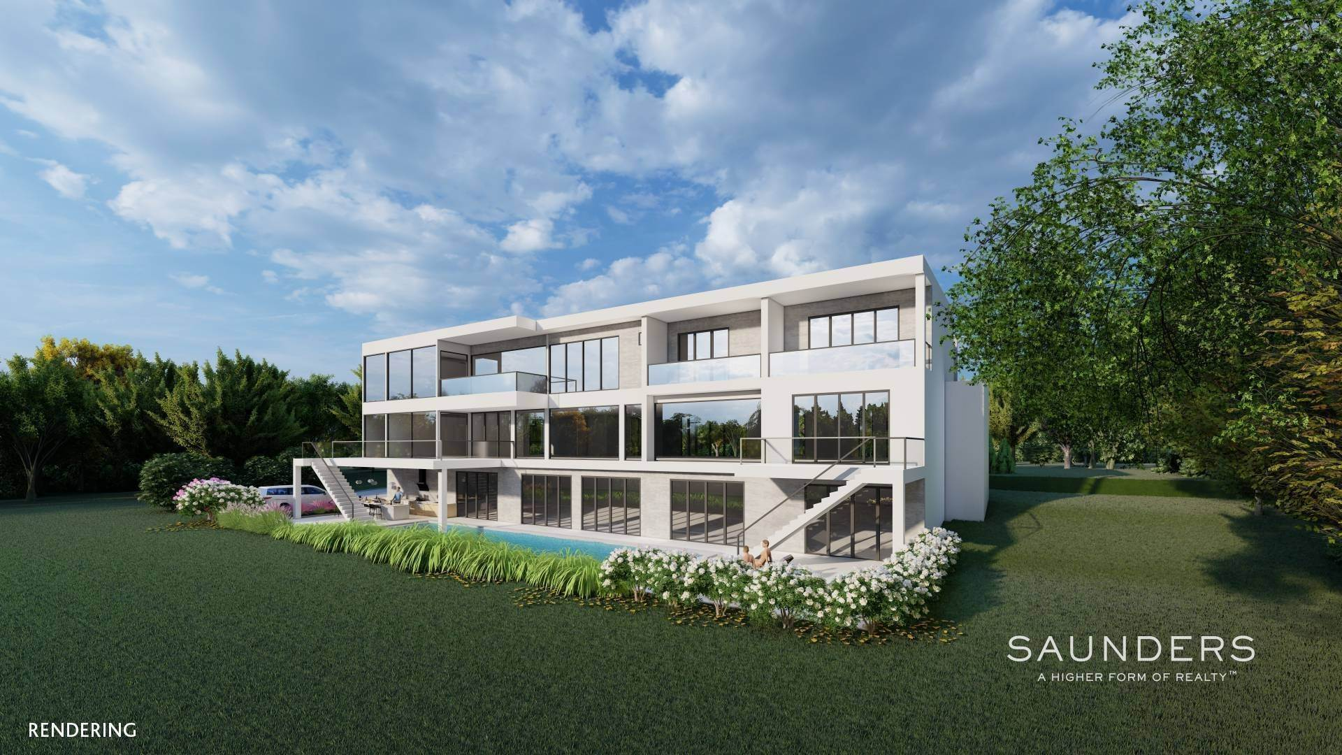 Single Family Homes for Sale at New Construction, Tranquility And Tennis In Water Mill 41 Wild Goose Lane, Water Mill, Southampton Town, NY 11976