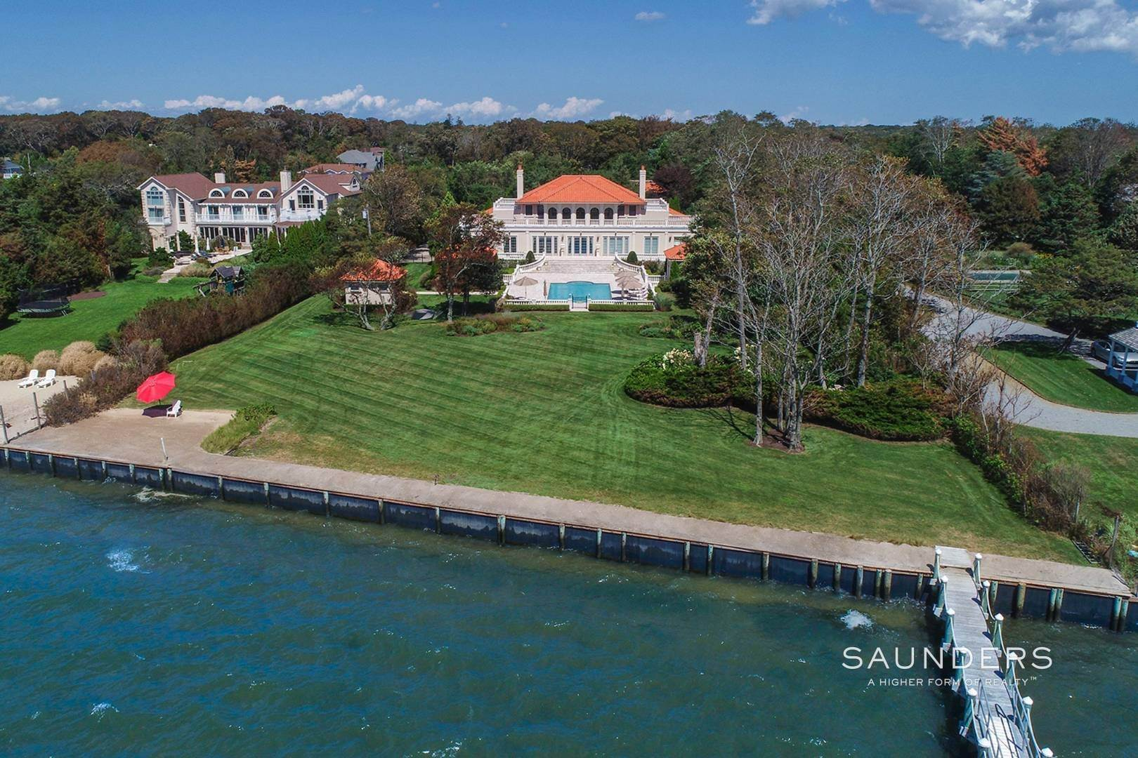 2. Single Family Homes for Sale at Palm Beach Meets The Hamptons At This Palatial Waterfront Estate 7 Cross Road, Remsenburg, Southampton Town, NY 11960