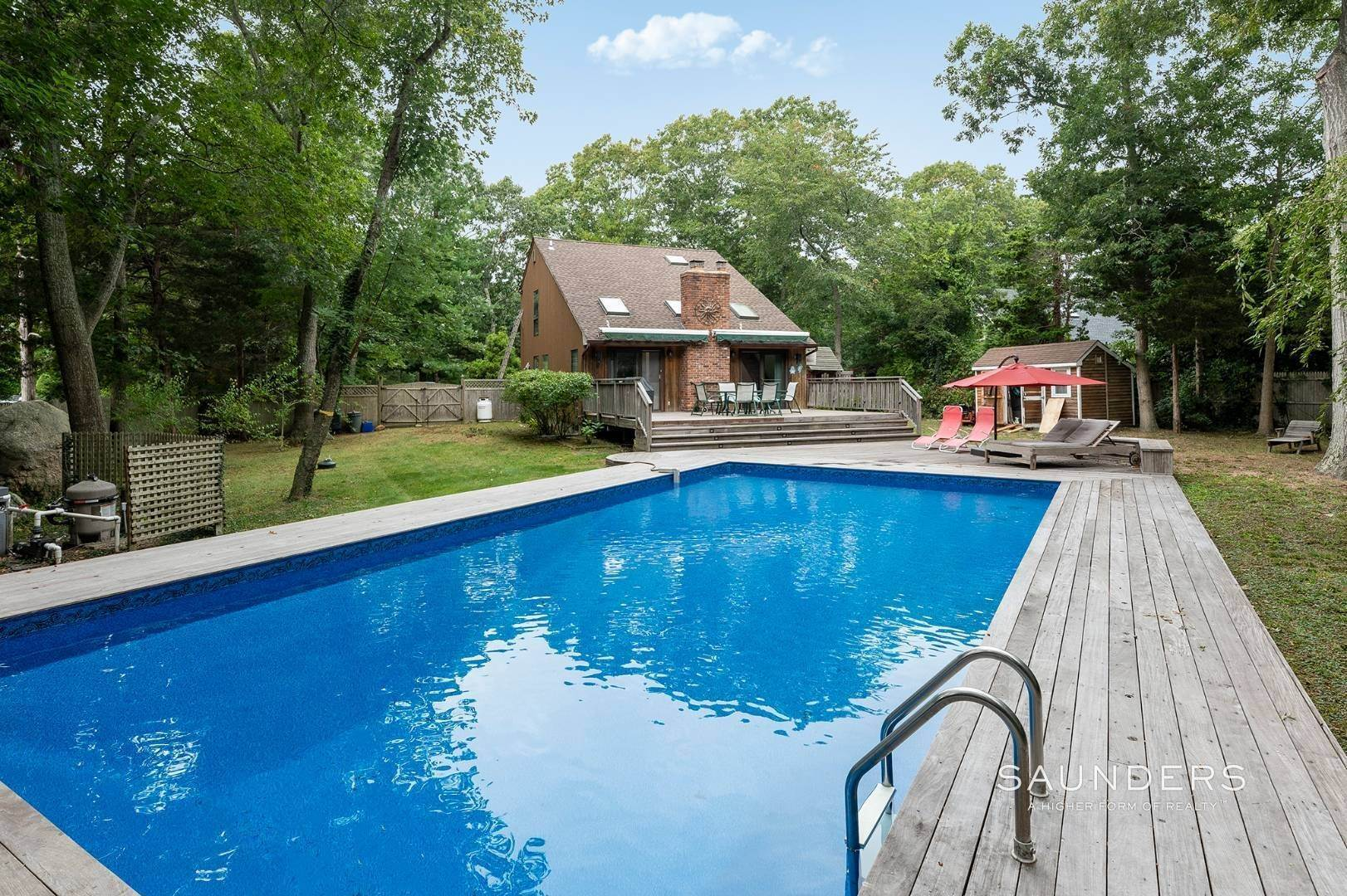 Single Family Homes at Charming Home With Heated Pool 221 Norfolk Dr, East Hampton, East Hampton Town, NY 11937