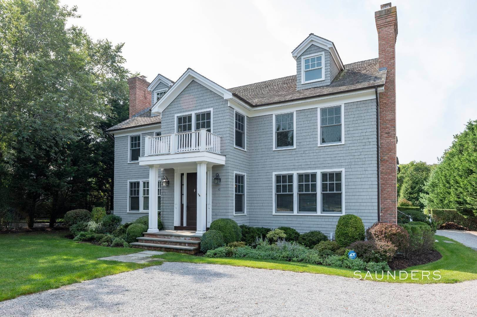Single Family Homes for Sale at Modern Rendition Of A Federal Colonial Bordering A Reserve 10 Montauk Avenue Ext, Sag Harbor, Southampton Town, NY 11963