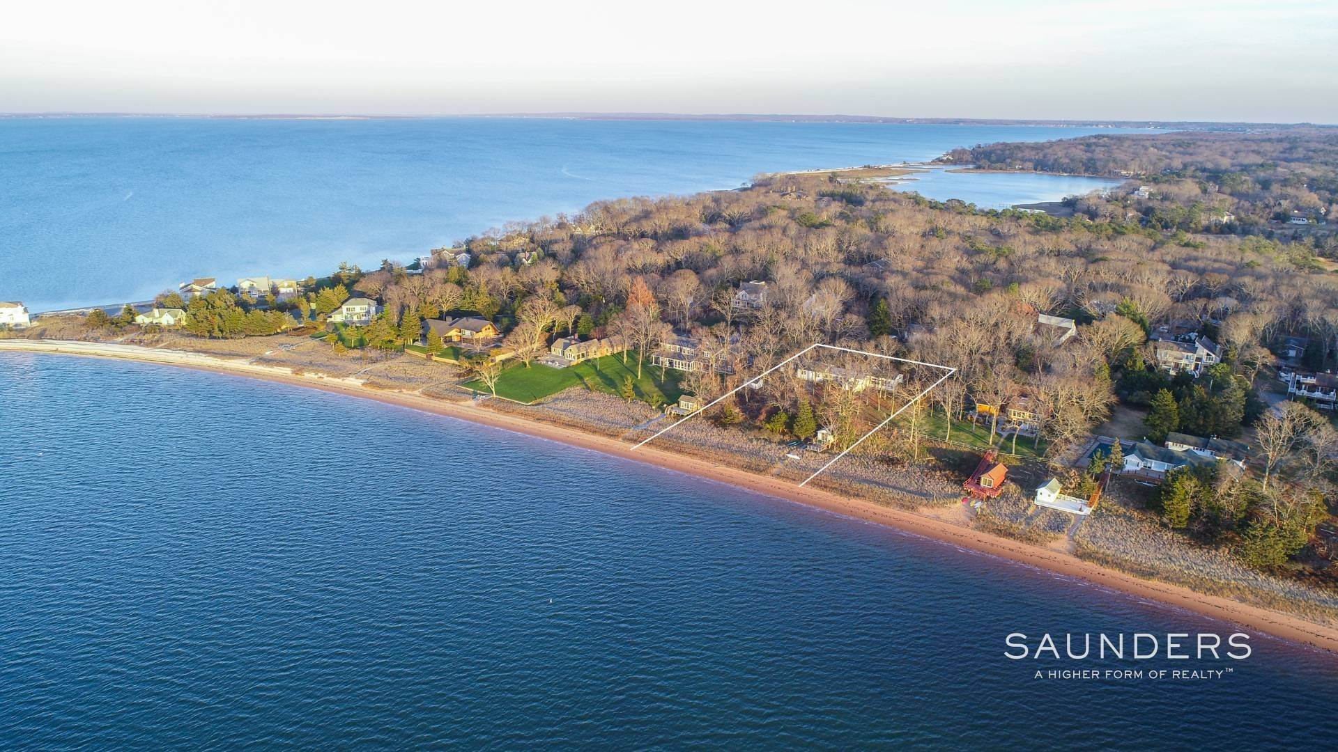 2. Single Family Homes for Sale at Red Cedar Point Waterfront 10 North Shore Road, Hampton Bays, Southampton Town, NY 11946