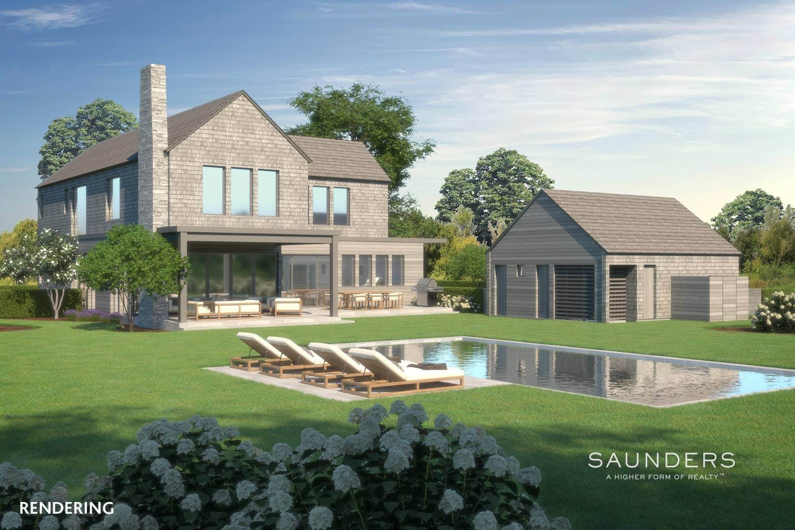 4. Single Family Homes for Sale at New Custom Construction-Heart Of The Village! 12 Davids Lane, East Hampton, East Hampton Town, NY 11937