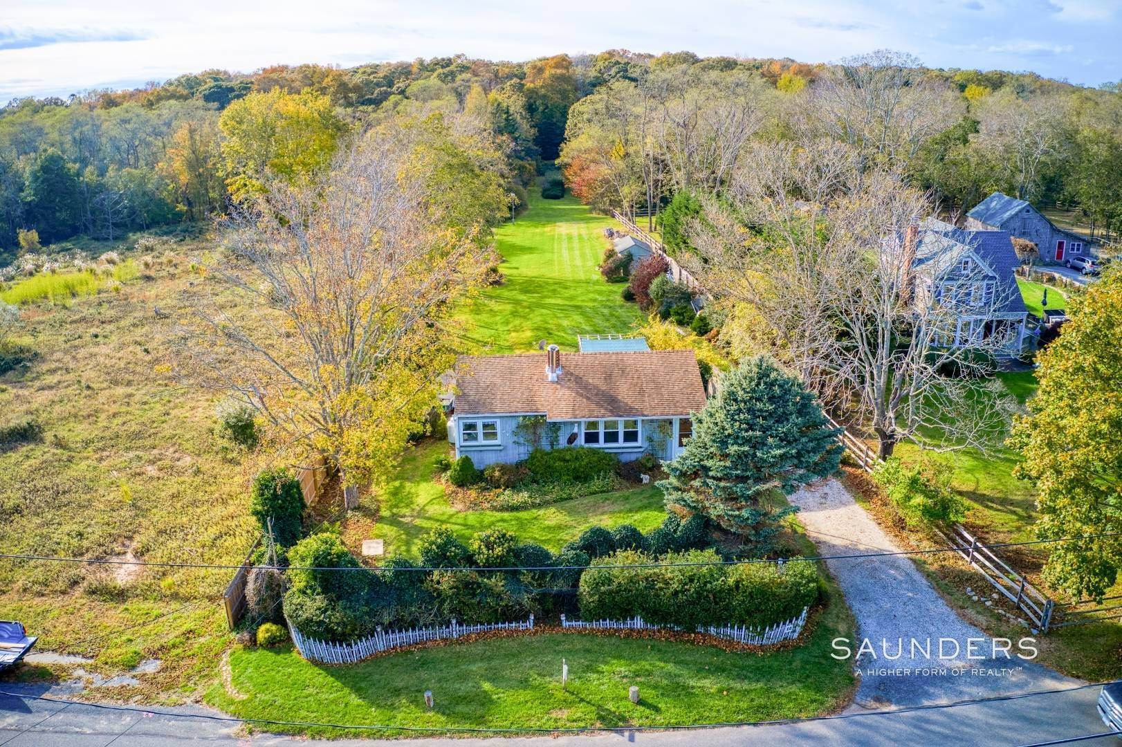 Single Family Homes for Sale at Shelter Island Country Bungalow Bordering Nature Trails 31 St. Marys Road, Shelter Island, NY 11964