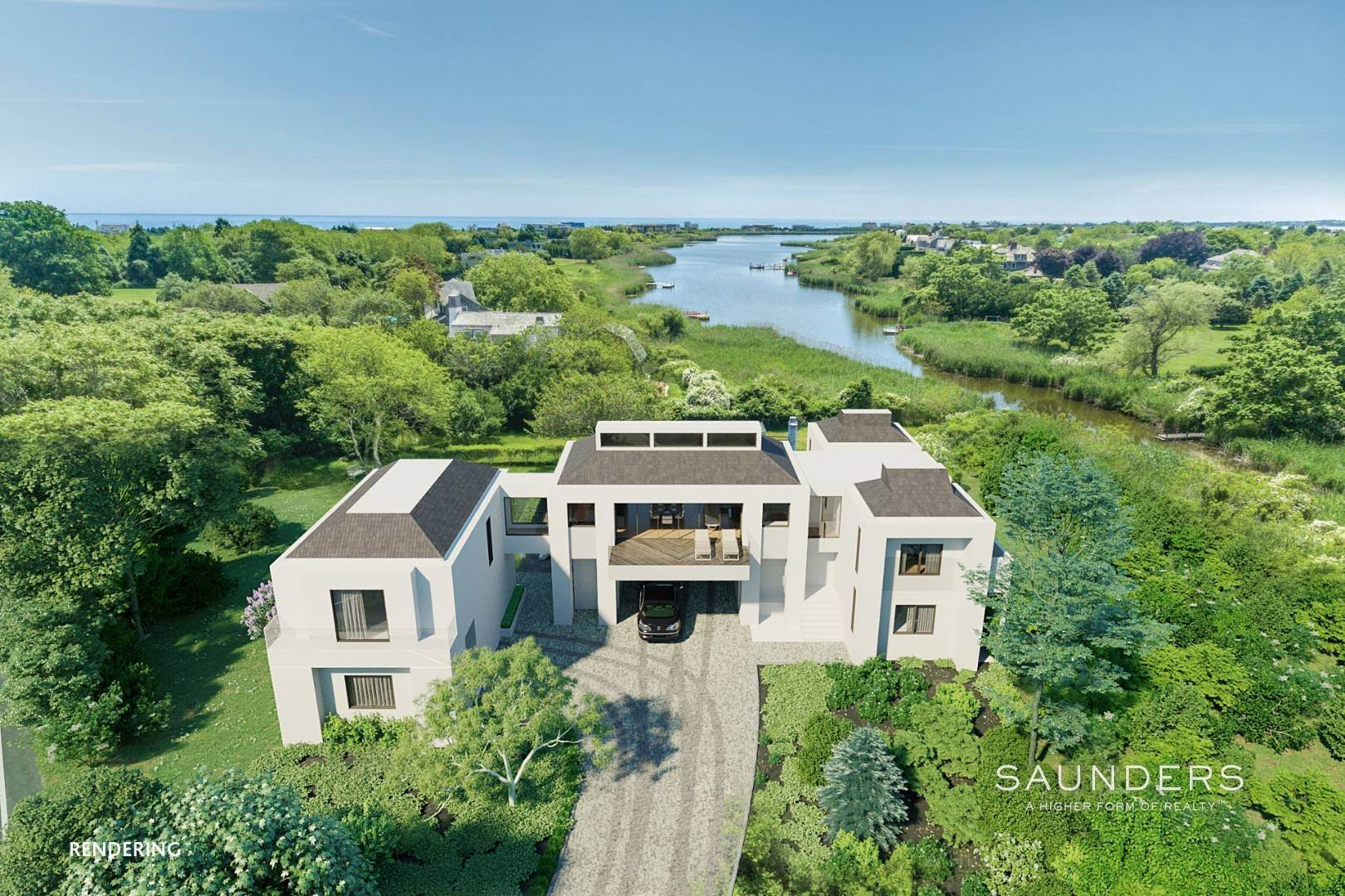 Single Family Homes for Sale at Oasis By The Ocean - Endless Sunsets, Water Views & Access 1076 Ocean Road, Bridgehampton, Southampton Town, NY 11932