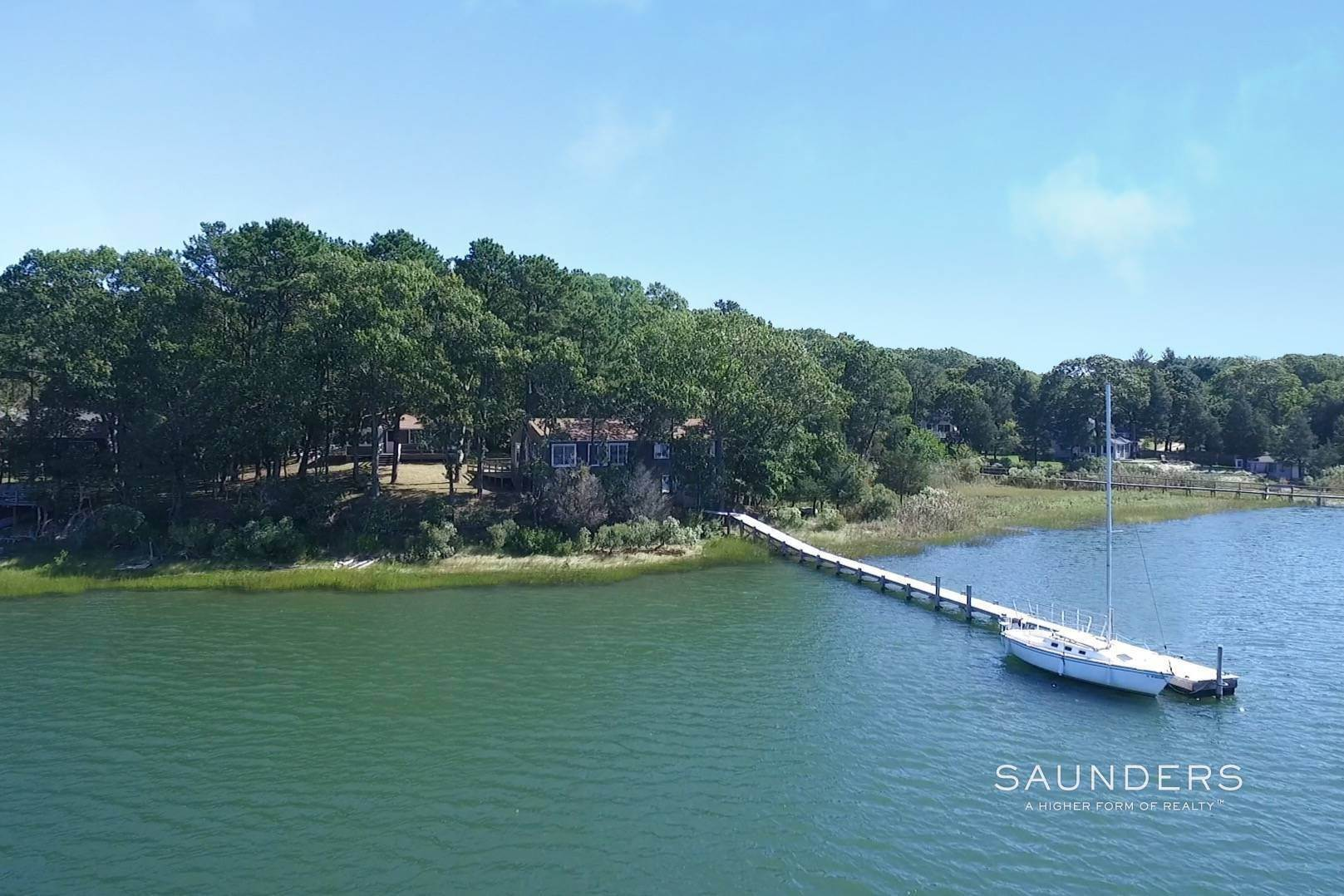 Single Family Homes for Sale at Endless Waterfront Sunsets & Deep Water Dock 7 Red Creek Park Road, Hampton Bays, Southampton Town, NY 11946
