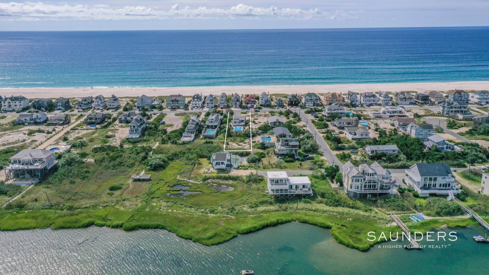 2. Single Family Homes for Sale at Beach, Bay And Magical Sunsets 800 Dune Road, Westhampton Dunes Village, Southampton Town, NY 11978