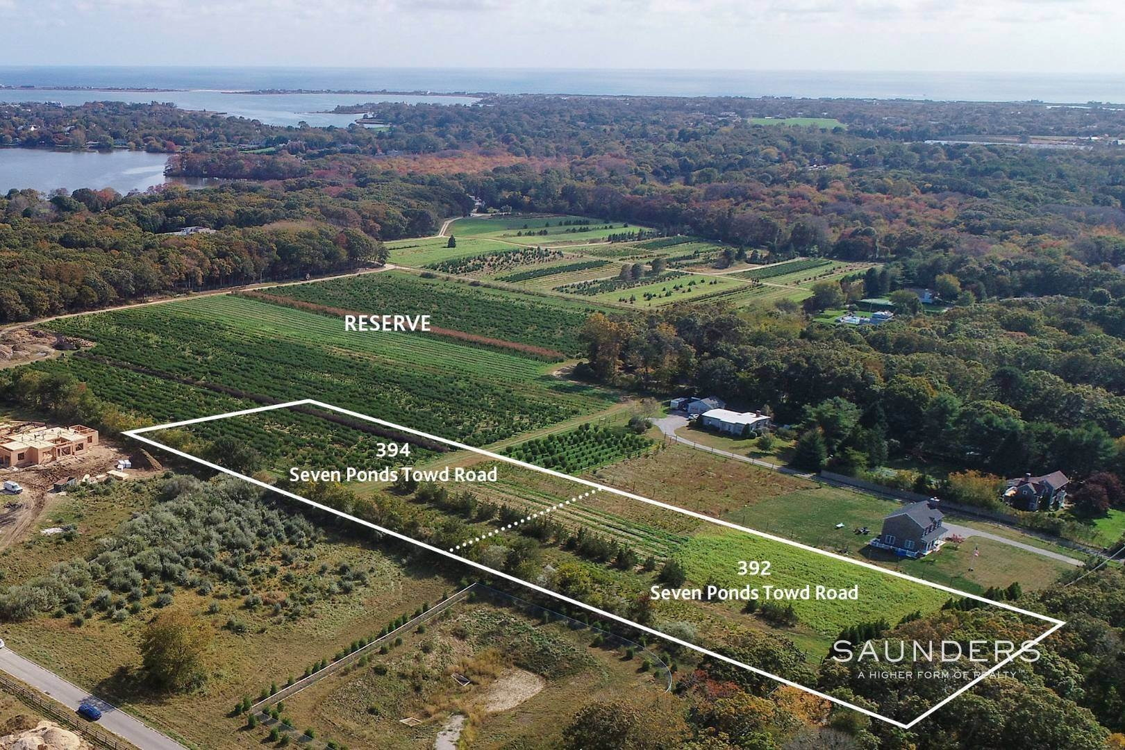 Land for Sale at Estate-Quality Parcels Overlooking 48 Acre Reserve 394 Seven Ponds Towd Road, Water Mill, Southampton Town, NY 11976