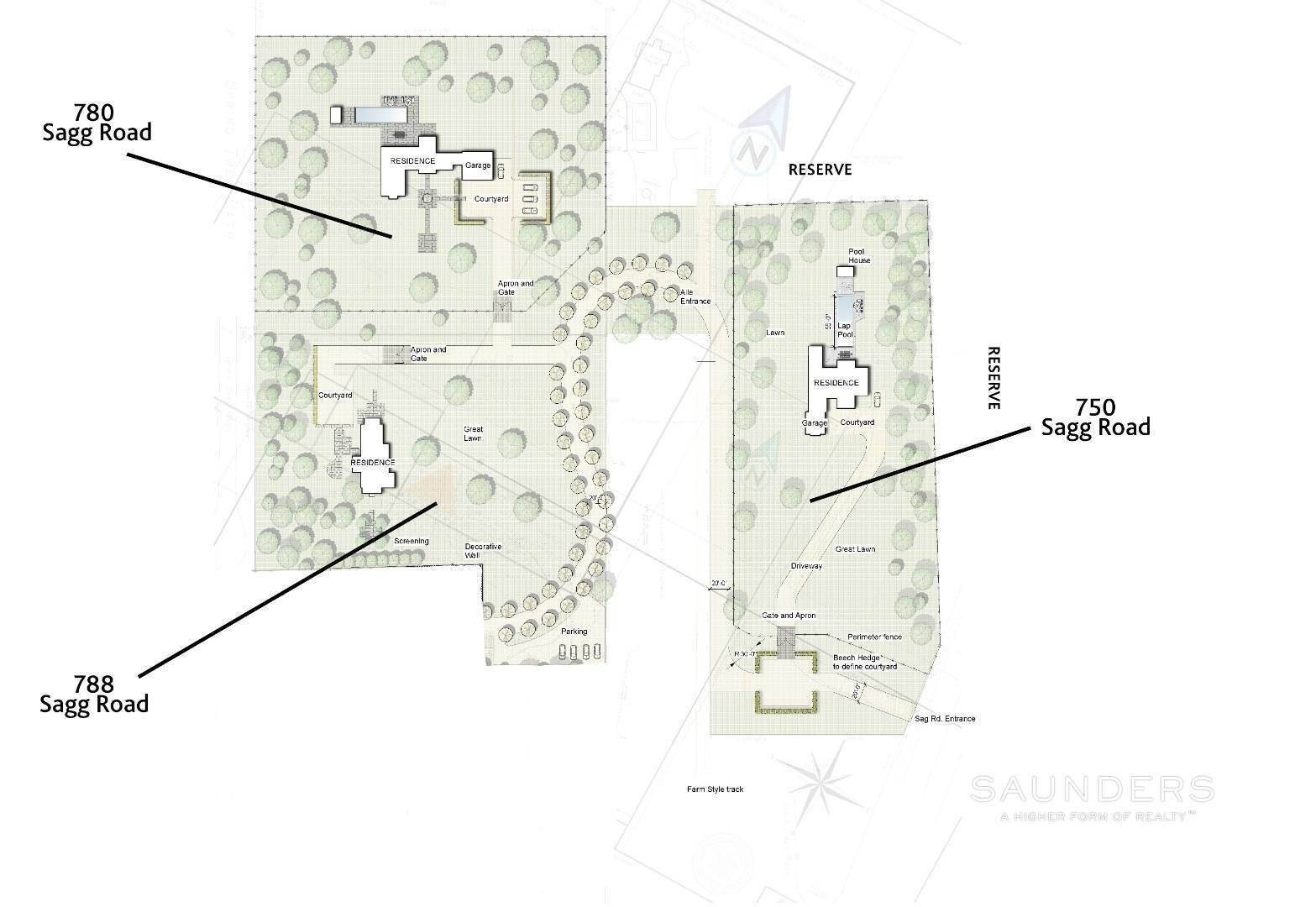 2. Land for Sale at Builder's Dream - Exceptional Building Lot In Sagaponack 780 Sagg Road, Sagaponack, Southampton Town, NY 11962