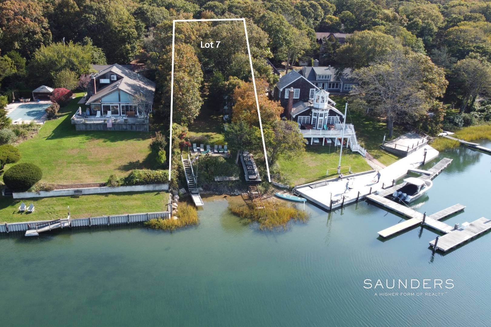 5. Single Family Homes for Sale at 3 M H Waterfront : Bld A 2600 Sq Ft Home With Dock /+1 Acre Lot! 6 And 7 Outlook Ave, East Hampton, East Hampton Town, NY 11937