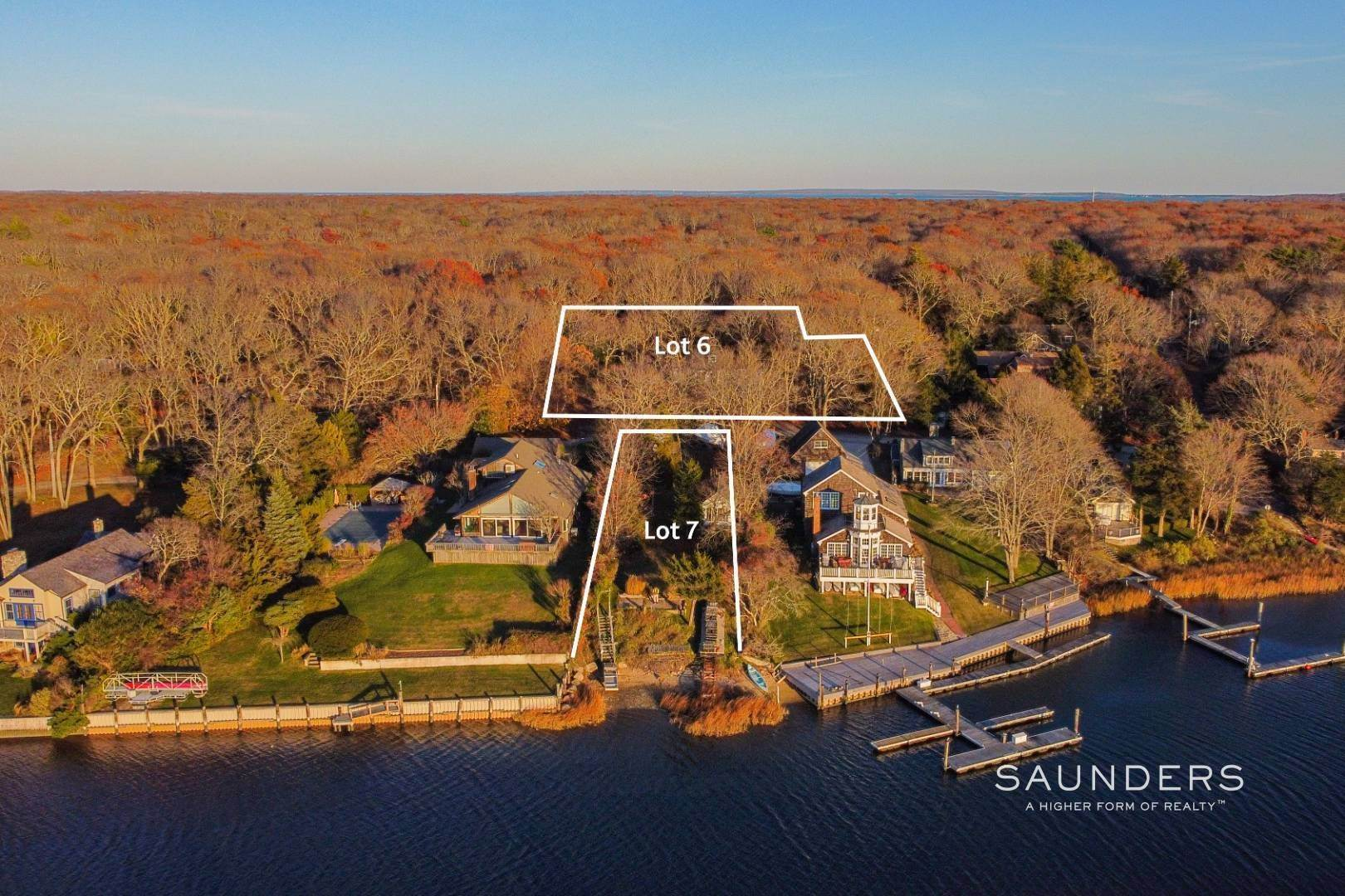 2. Single Family Homes for Sale at 3 M H Waterfront : Bld A 2600 Sq Ft Home With Dock /+1 Acre Lot! 6 And 7 Outlook Ave, East Hampton, East Hampton Town, NY 11937