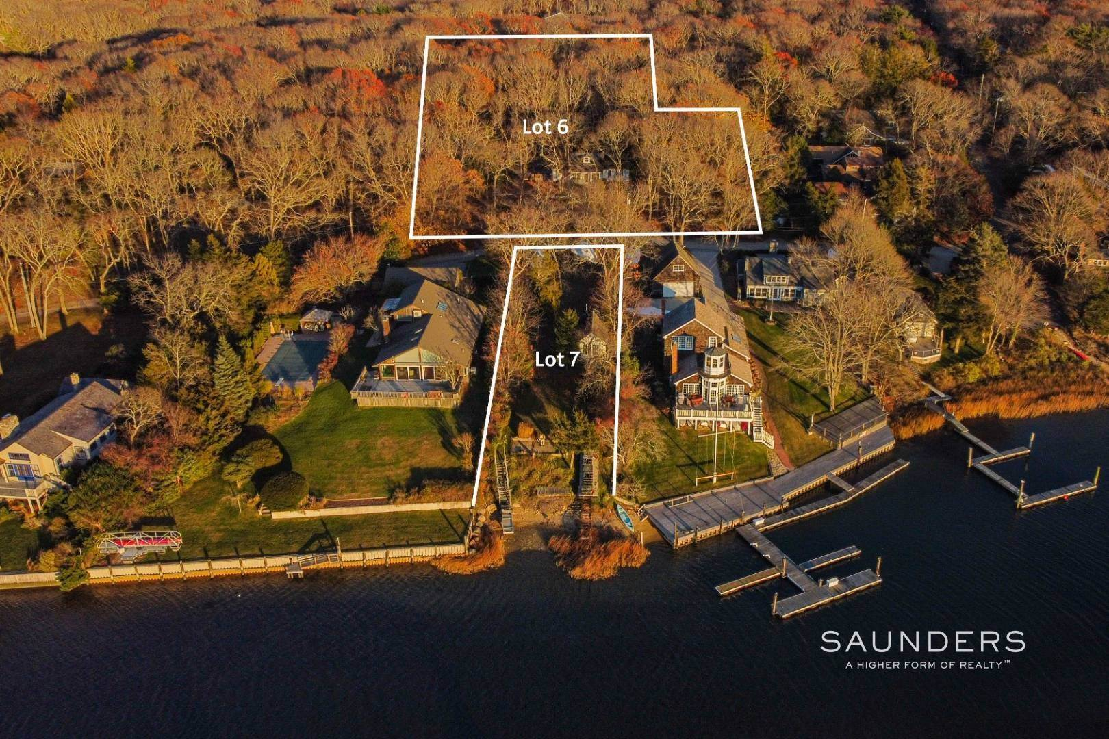 Single Family Homes for Sale at 3 M H Waterfront : Bld A 2600 Sq Ft Home With Dock /+1 Acre Lot! 6 And 7 Outlook Ave, East Hampton, East Hampton Town, NY 11937