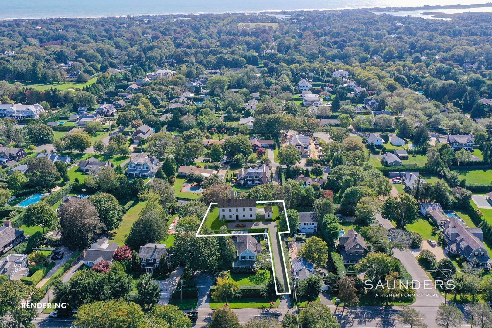 Single Family Homes for Sale at Land + Custom Build - Southampton Village 306 Hill Street, Southampton, Southampton Town, NY 11968