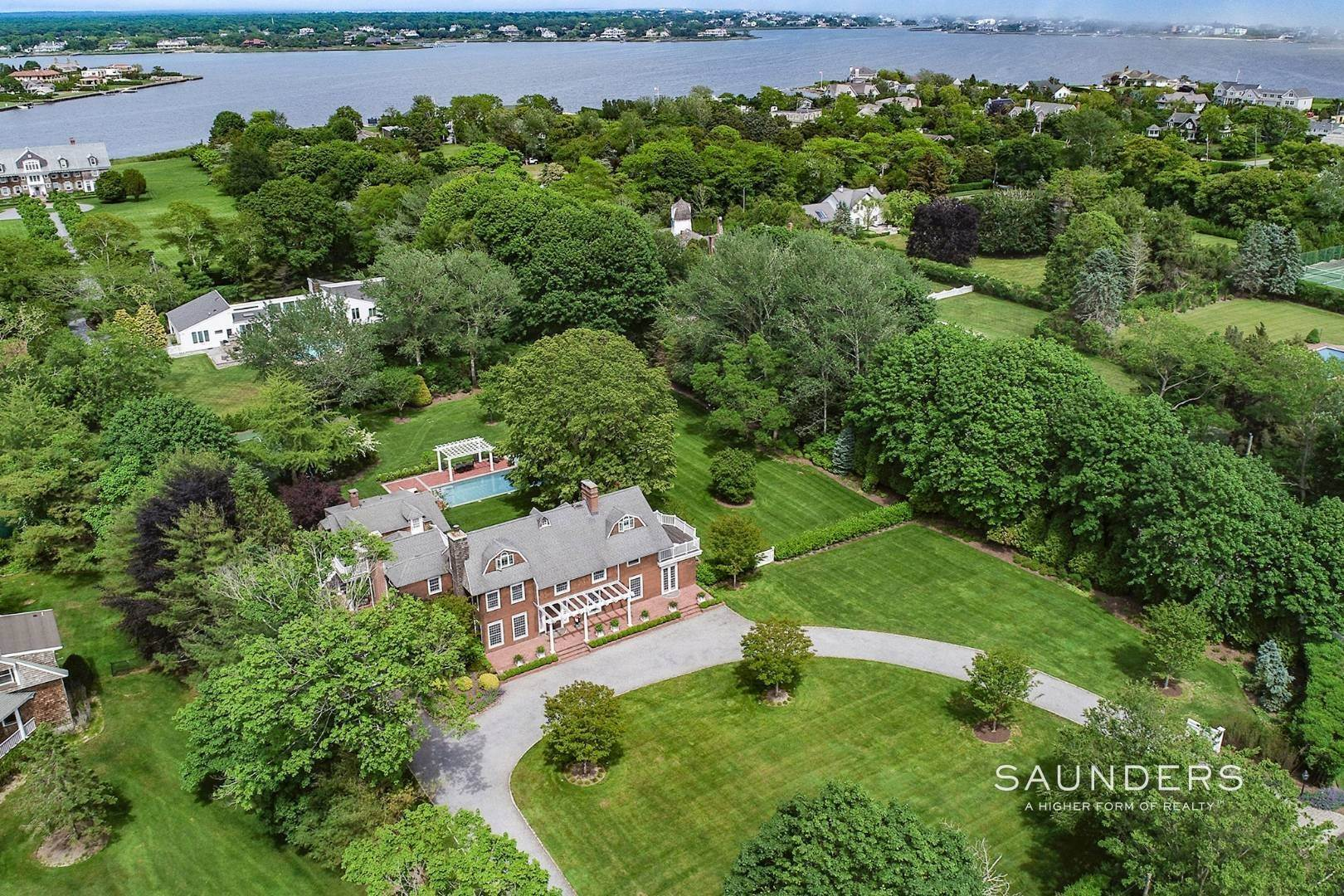 Single Family Homes for Sale at Westhampton Beach Estate With Pool, Putting Green And Tennis 92 Beach Lane, Westhampton Beach Village, Southampton Town, NY 11978