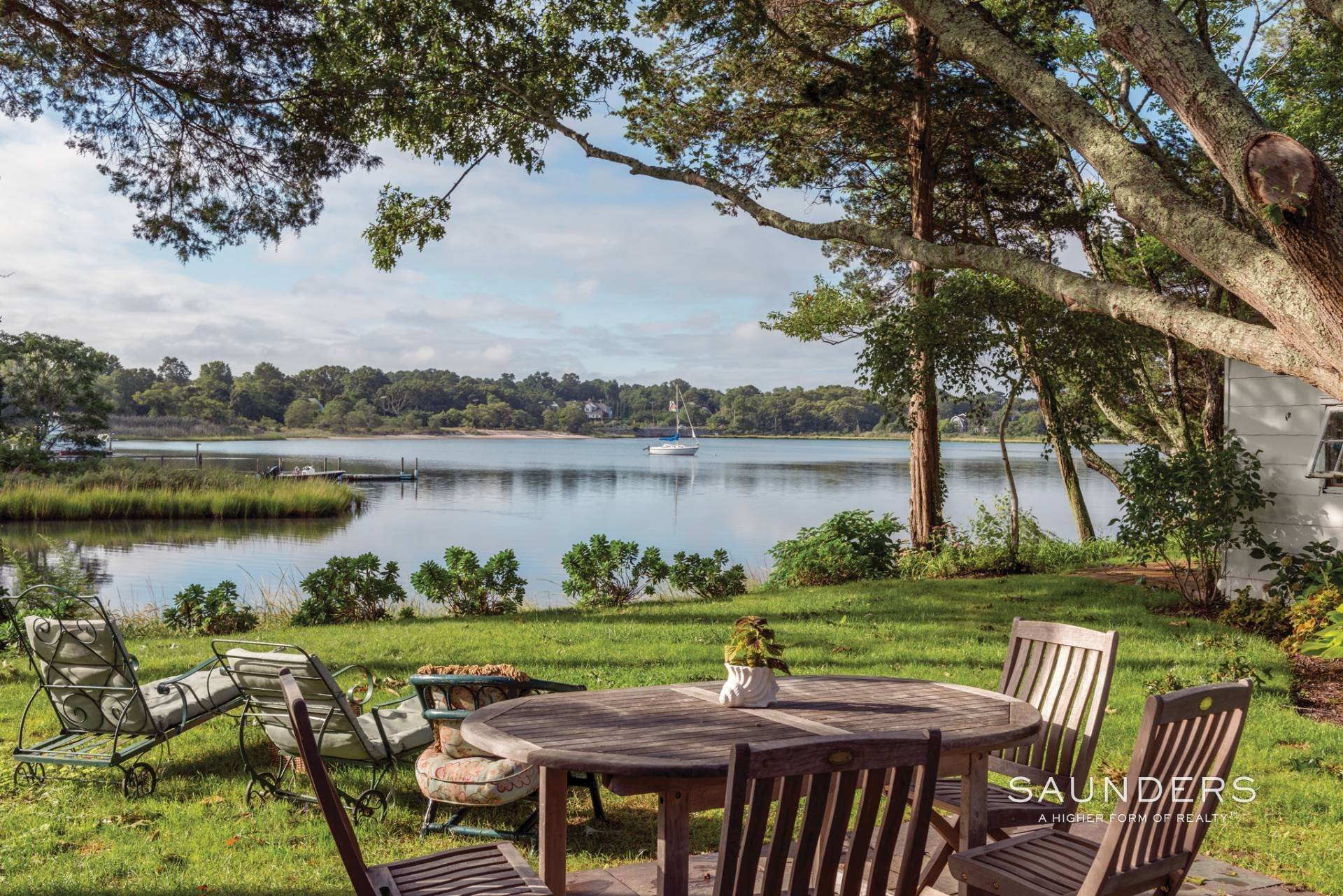 Single Family Homes at Sweet Waterfront Cottage Plus Boathouse Southampton, Southampton Town, NY 11968