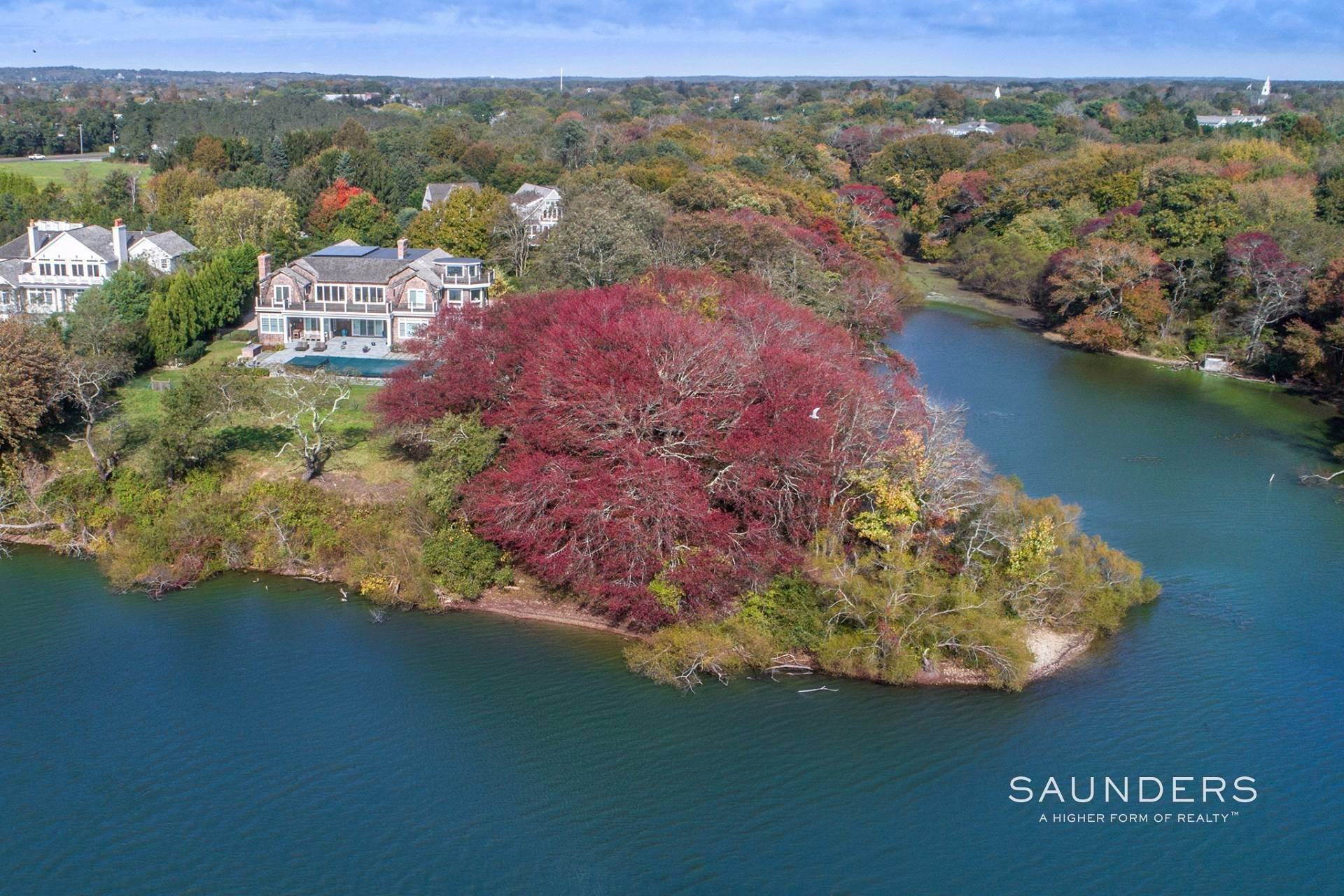 Single Family Homes at Designer's Own Waterfront Home - Bridgehampton South Bridgehampton, Southampton Town, NY 11932