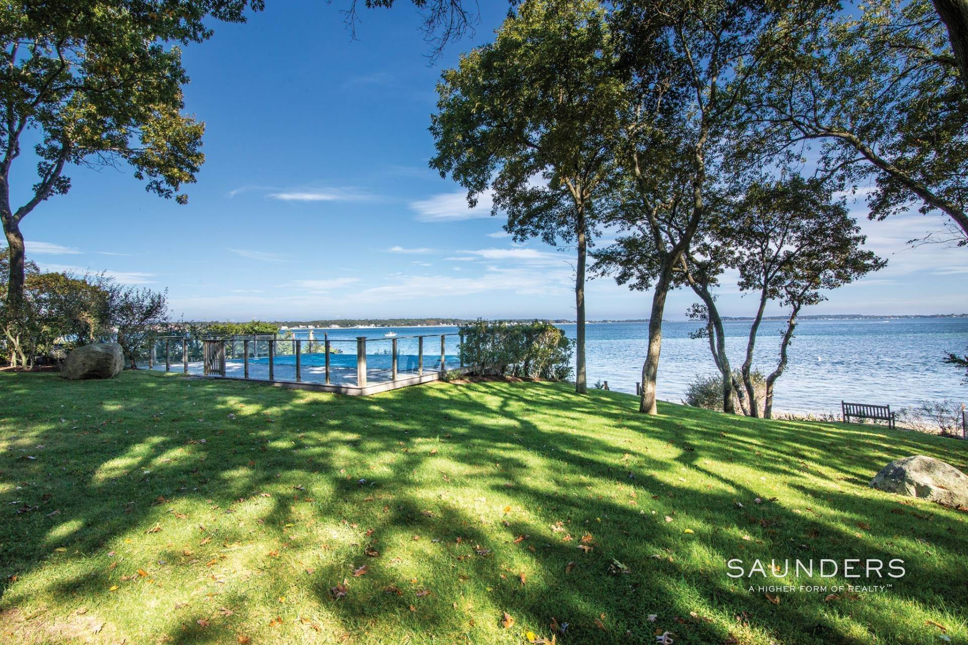 4. Single Family Homes for Sale at Shelter Island Bayfront With Infinity Edge Pool And Sandy Beach 17 Point Lane, Shelter Island Heights, Shelter Island, NY 11964