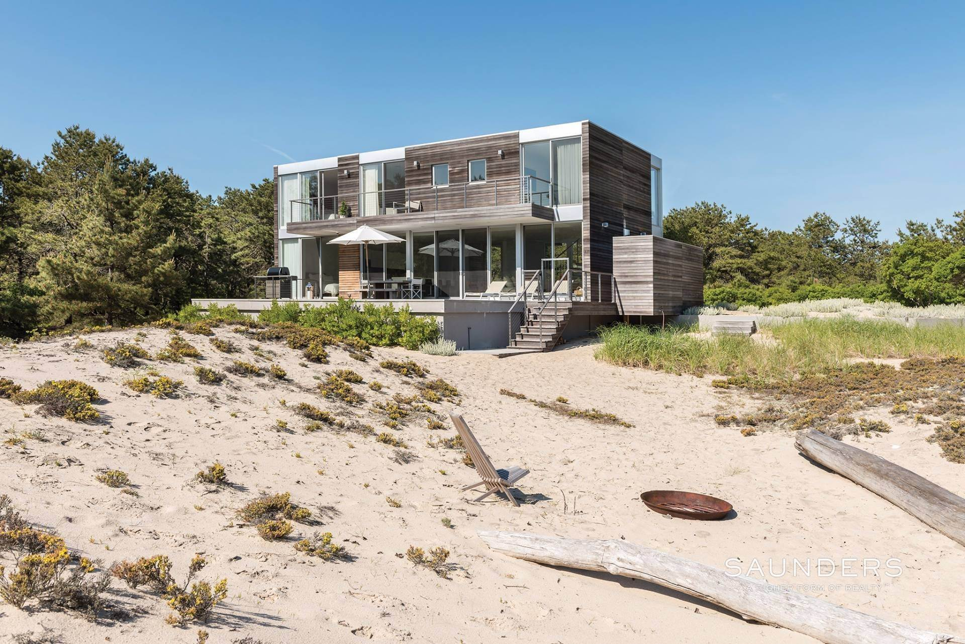 2. Single Family Homes at Private Modern In Amagansett Dunes Napeague, East Hampton Town, NY 11930